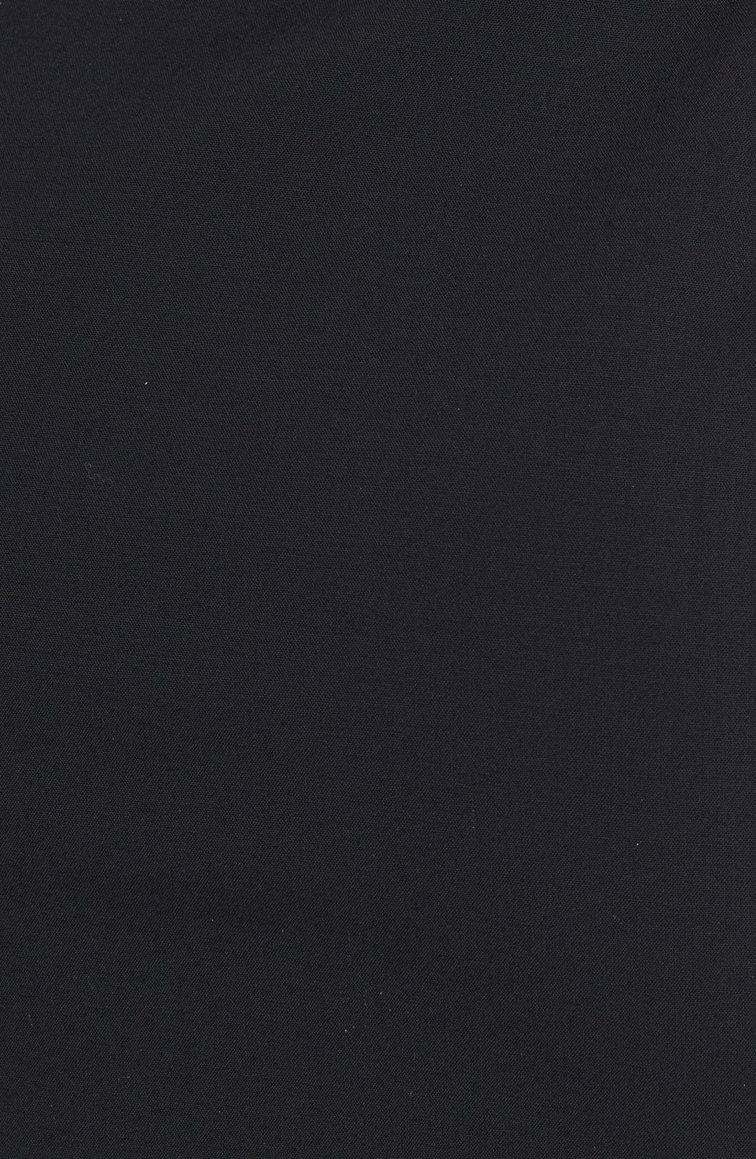 Stretch Wool Pencil Skirt,                             Alternate thumbnail 8, color,                             BLACK