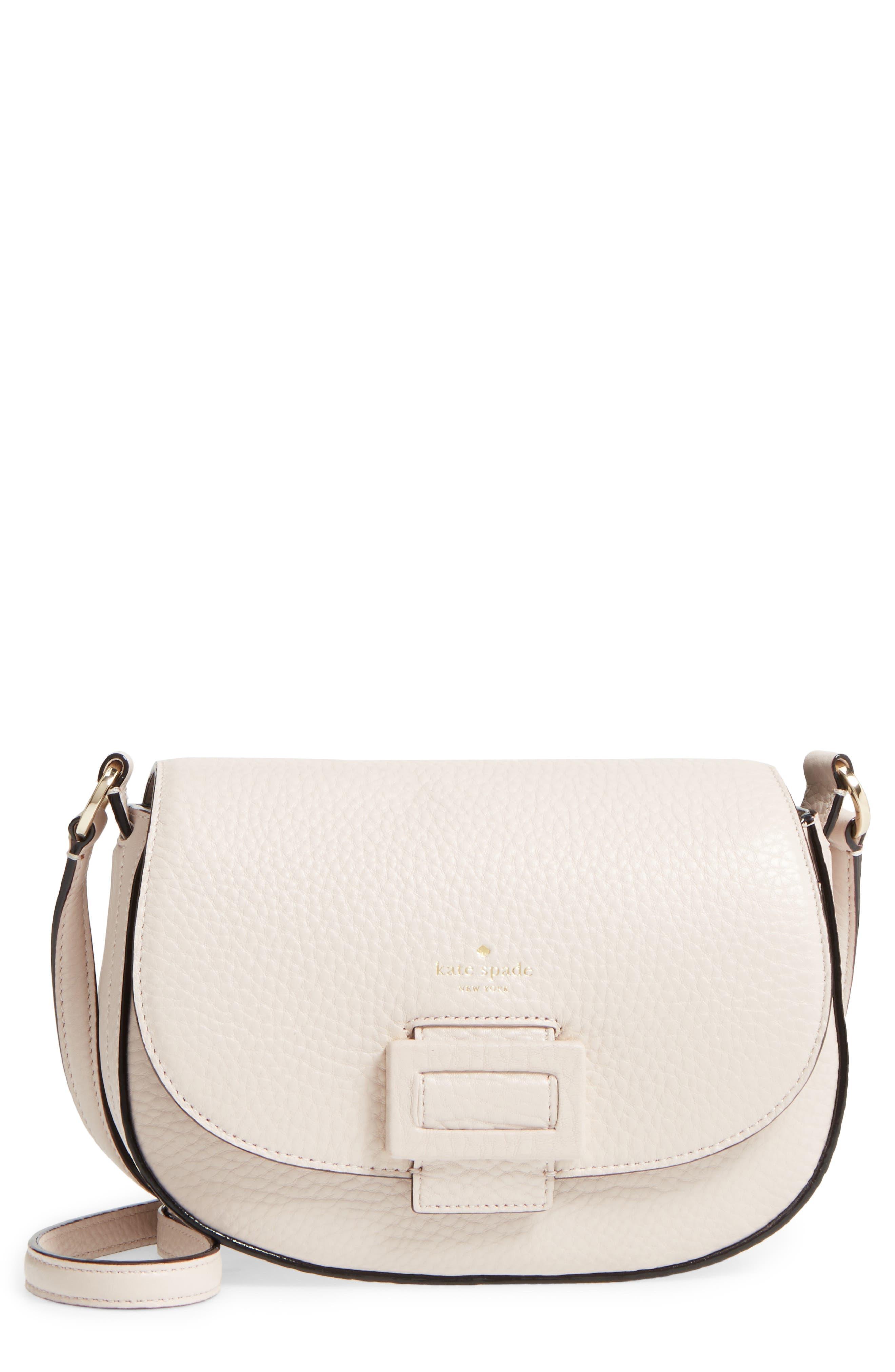 carlyle street - kallie leather saddle bag,                             Main thumbnail 2, color,