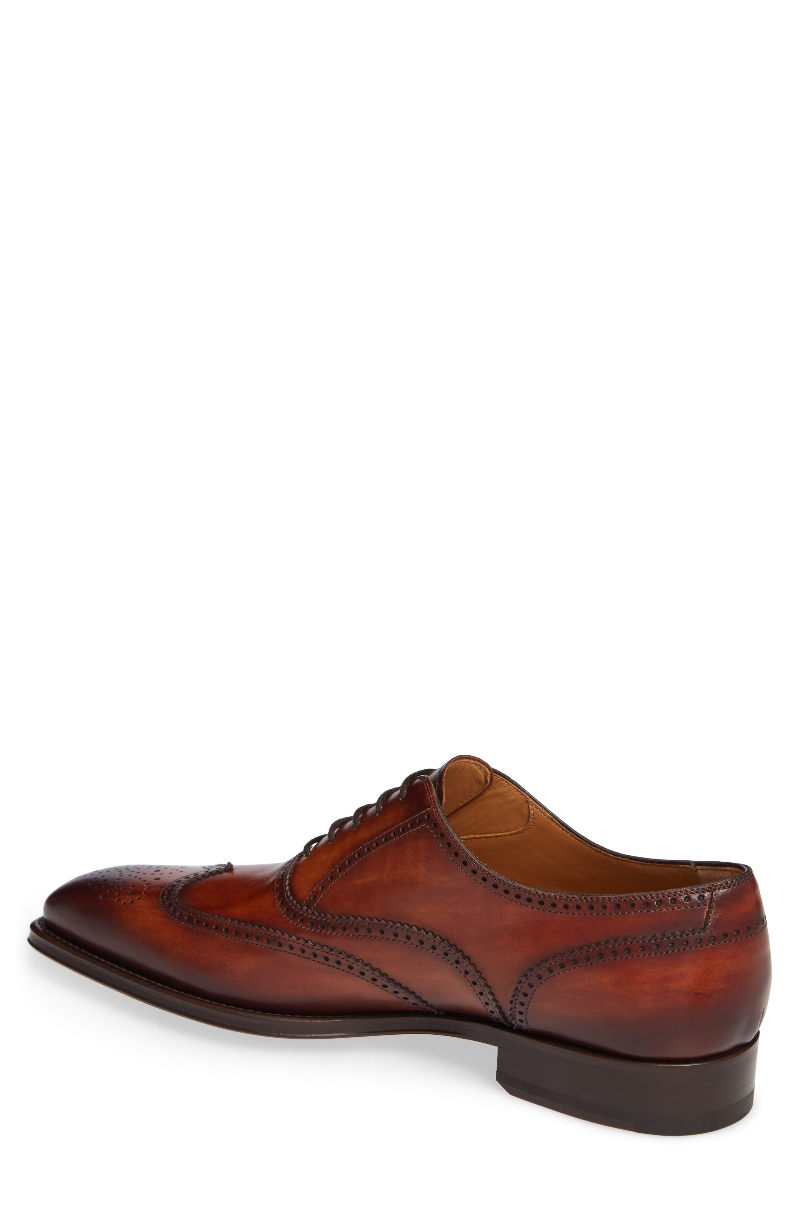 Ledger Wingtip,                             Alternate thumbnail 2, color,                             COGNAC LEATHER