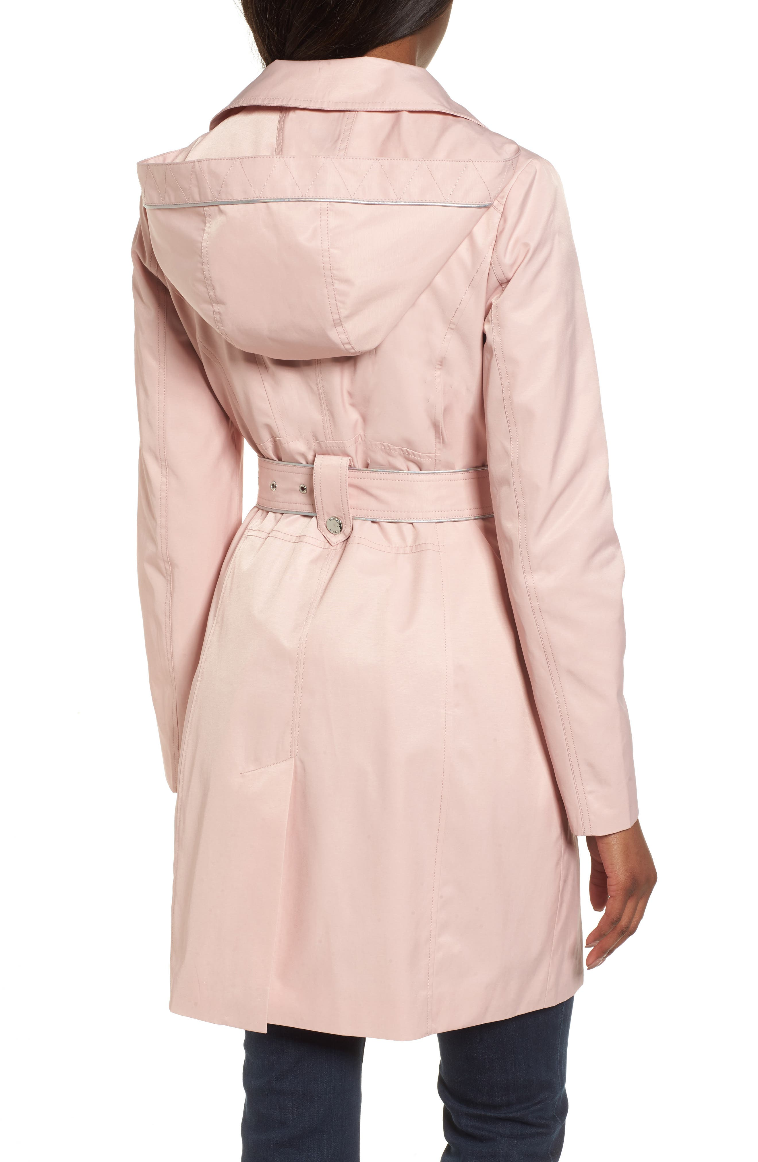 Hooded Piped Trench Coat,                             Alternate thumbnail 4, color,