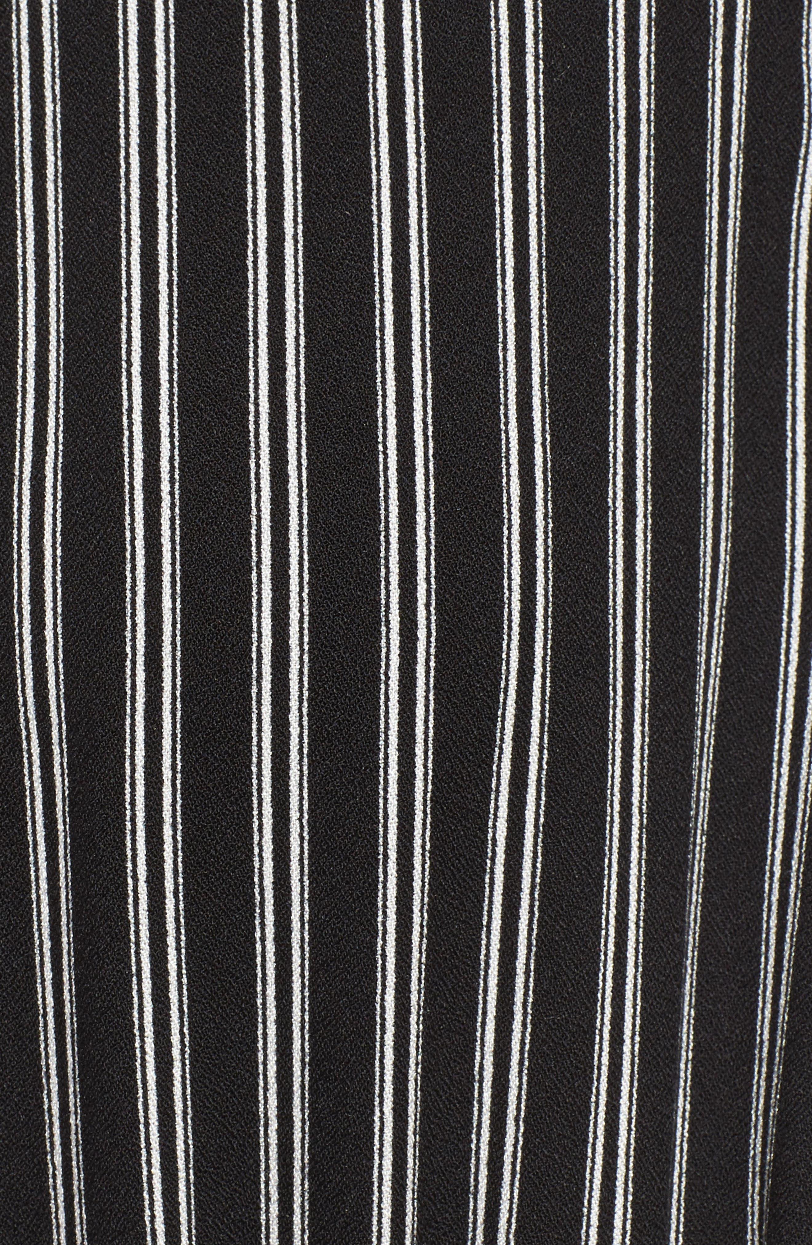 Faux Wrap Tie Sleeve Romper,                             Alternate thumbnail 5, color,                             001