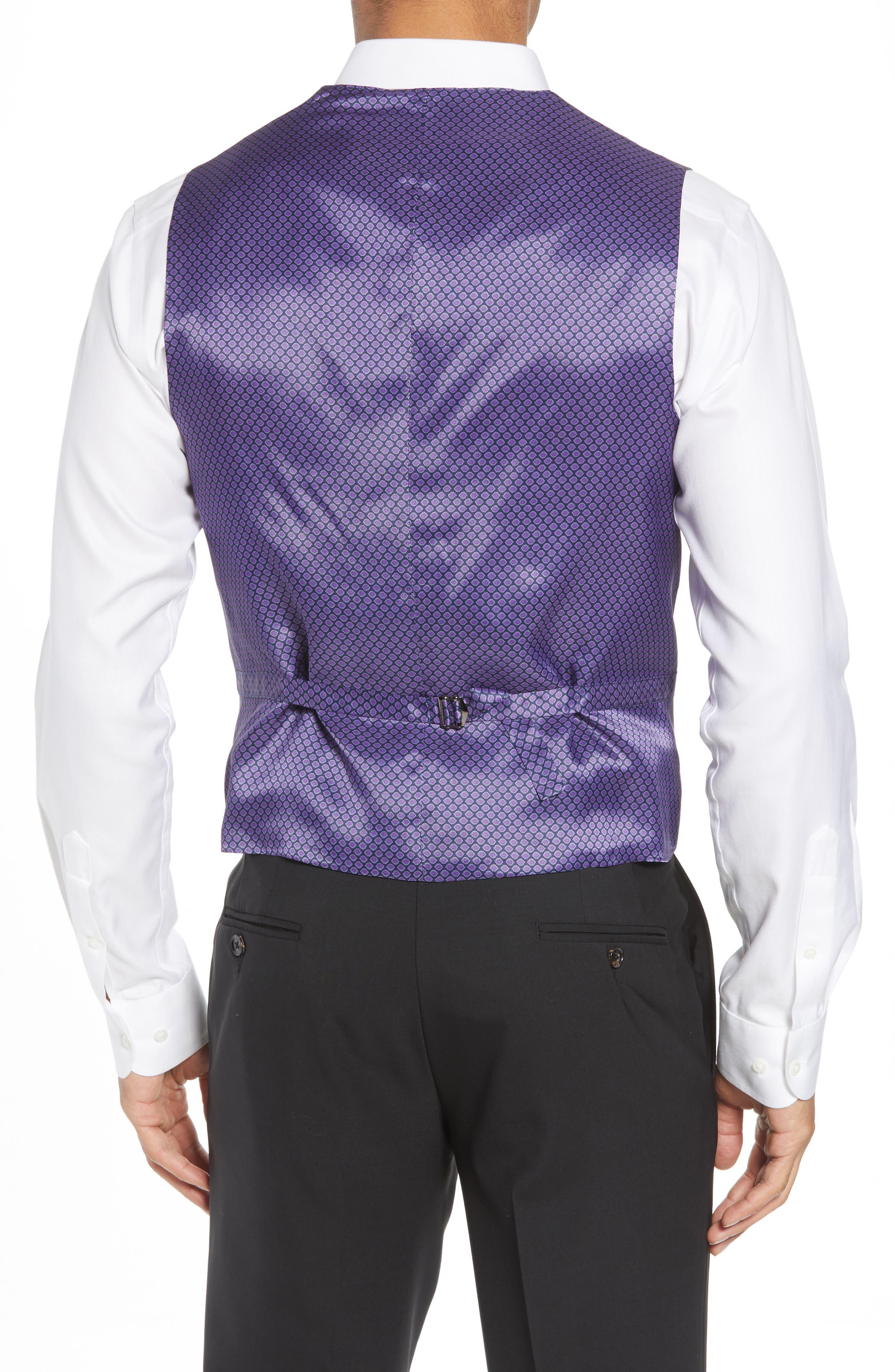 Troy Trim Fit Solid Wool Vest,                             Alternate thumbnail 2, color,                             LIGHT GREY