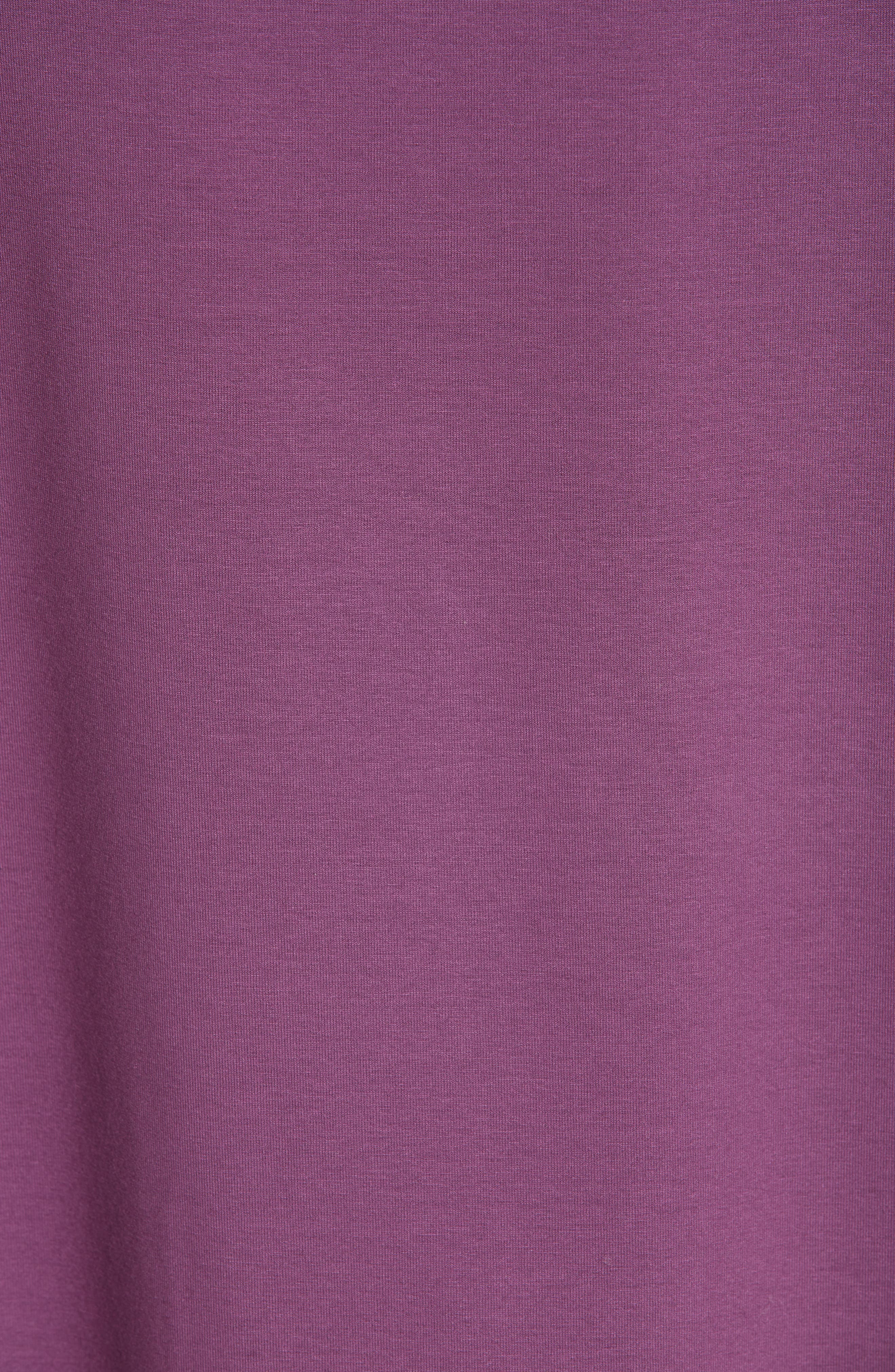 Flare Sleeve Top,                             Alternate thumbnail 5, color,                             CURRANT