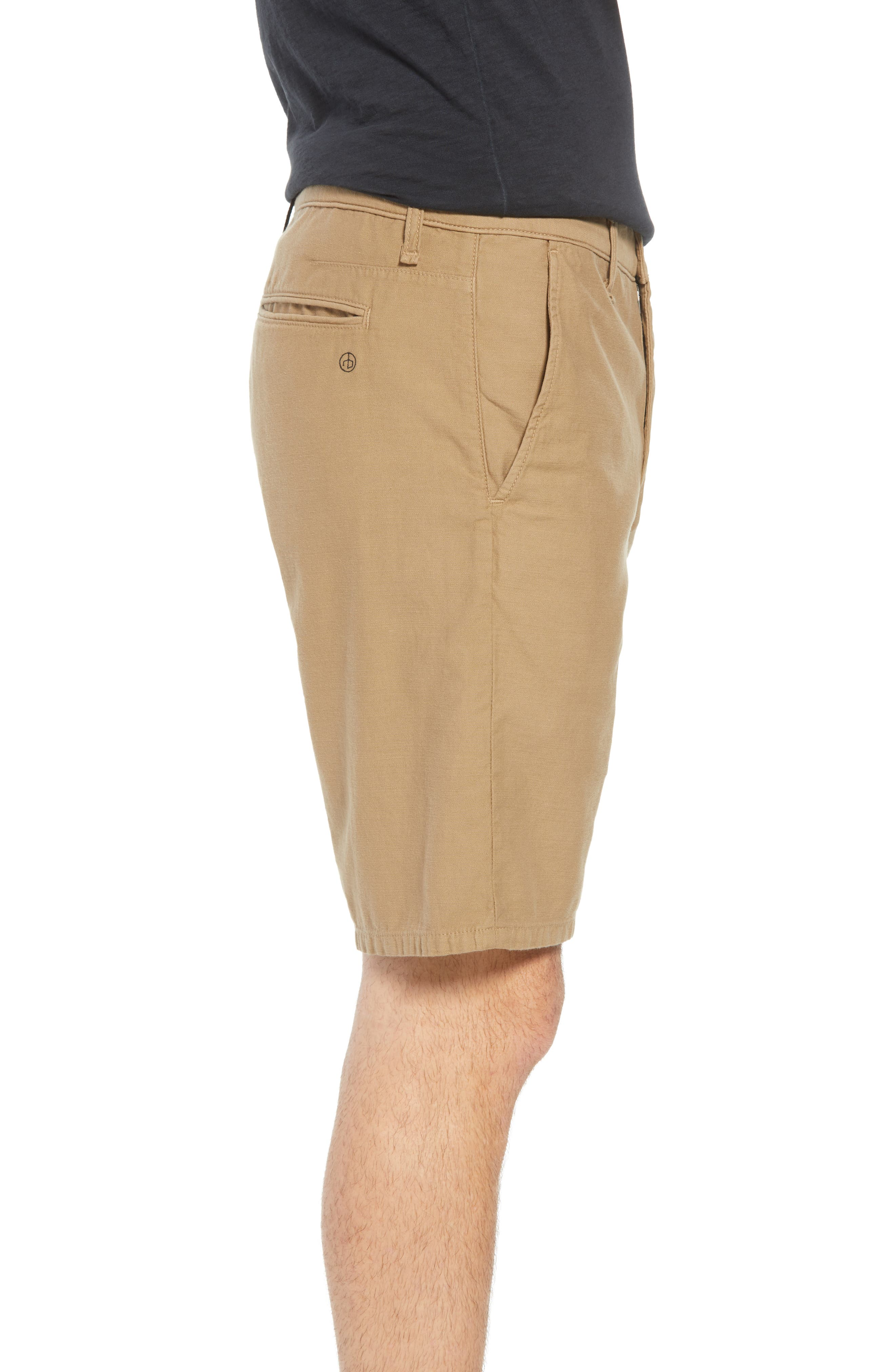 Straight Leg Chino Shorts,                             Alternate thumbnail 3, color,                             KHAKI
