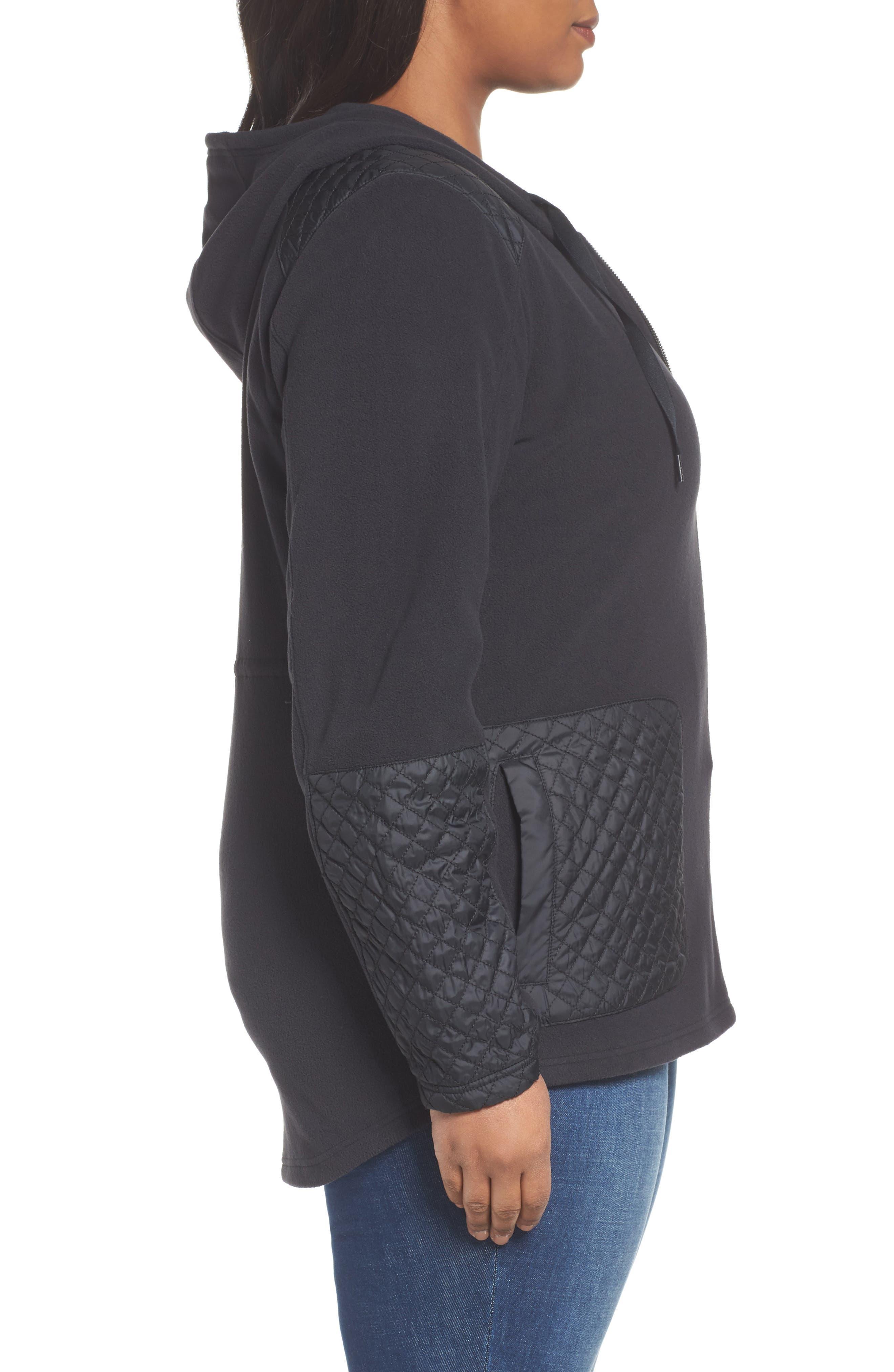 Warm Up Hooded Fleece Jacket,                             Alternate thumbnail 3, color,                             010