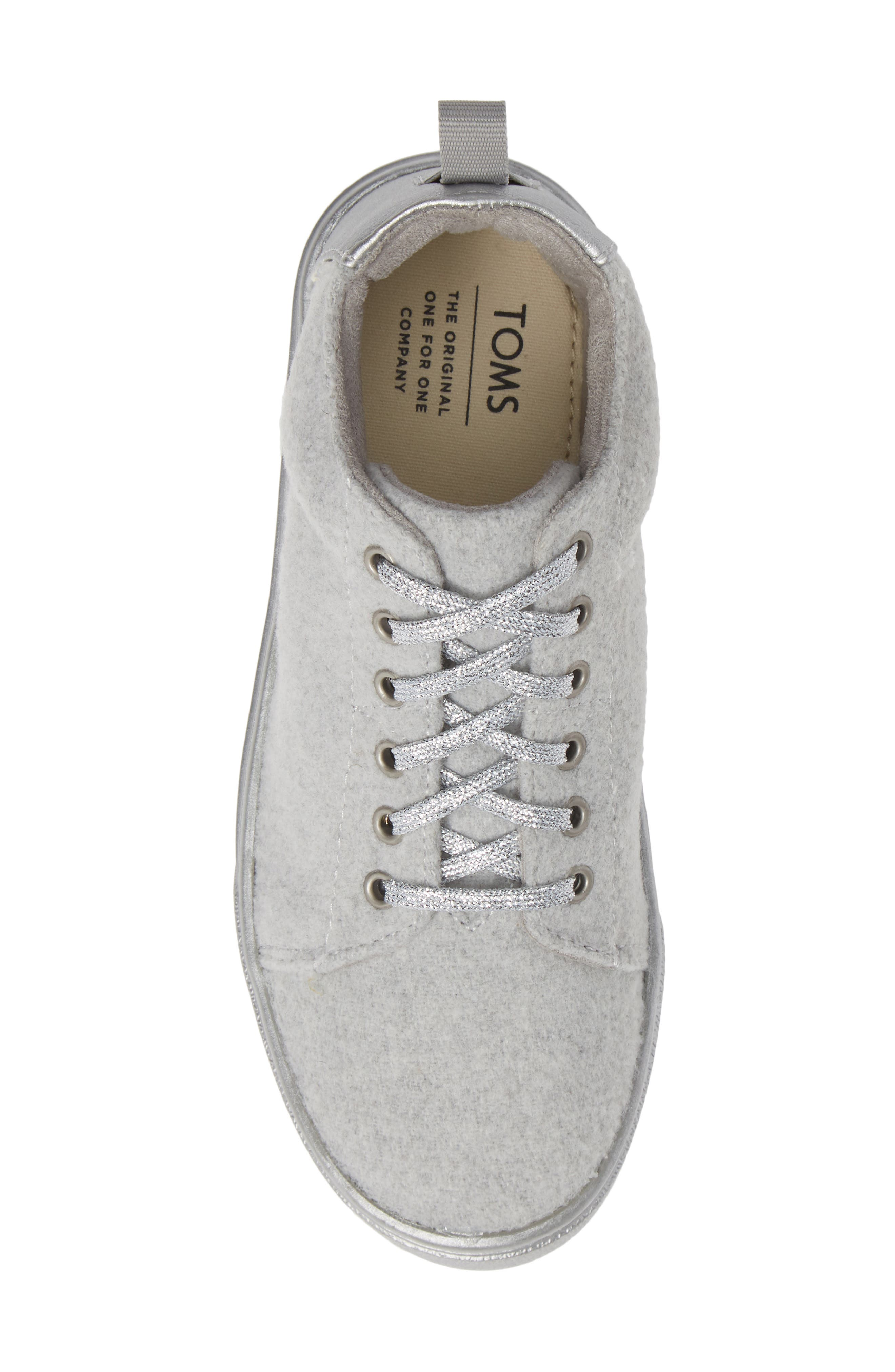 Lenny Mid Top Sneaker,                             Alternate thumbnail 5, color,                             DRIZZLE GREY FELT