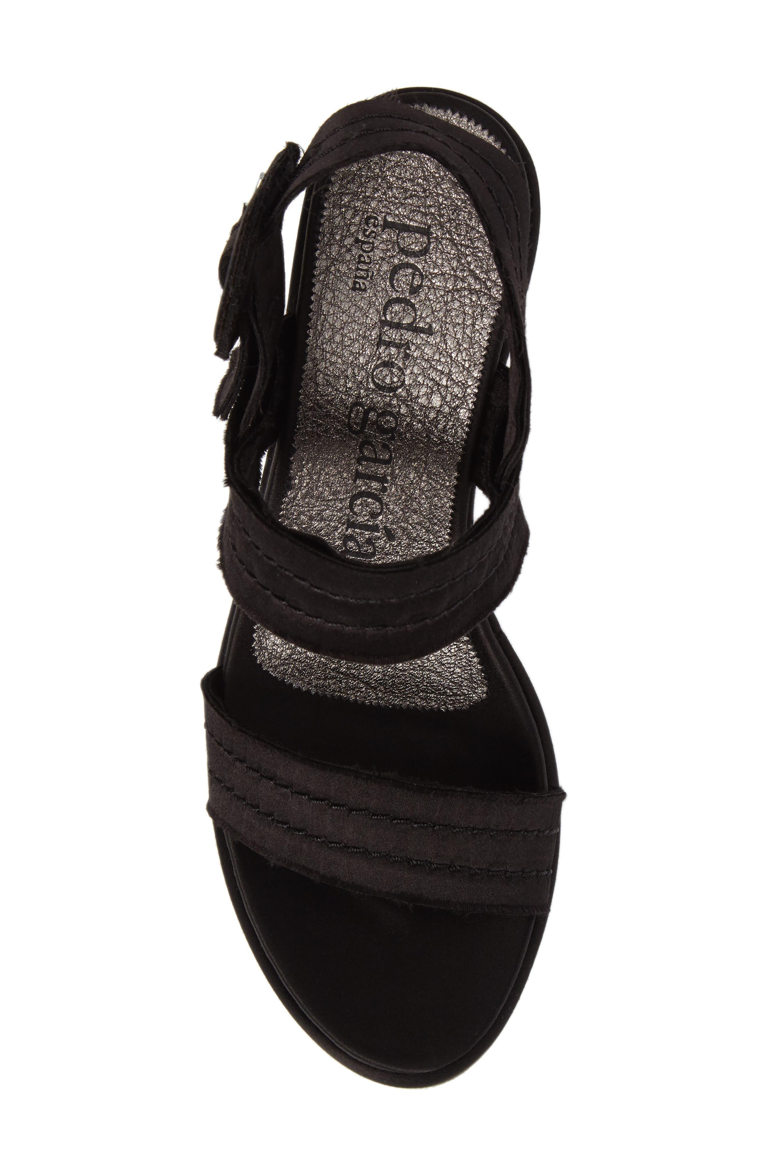 Decima Platform Sandal,                             Alternate thumbnail 5, color,                             001