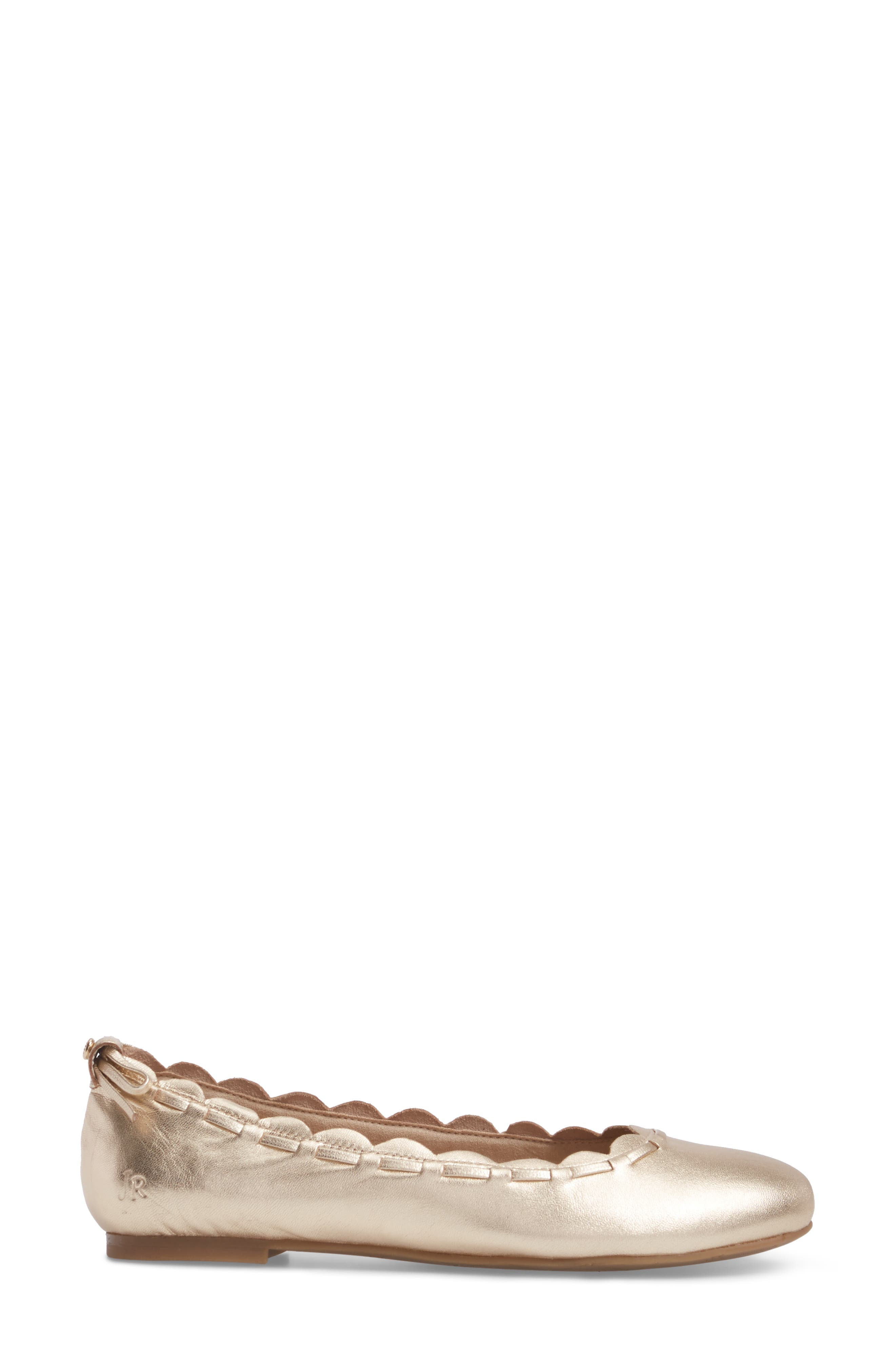 Lucie Scalloped Flat,                             Alternate thumbnail 3, color,                             040