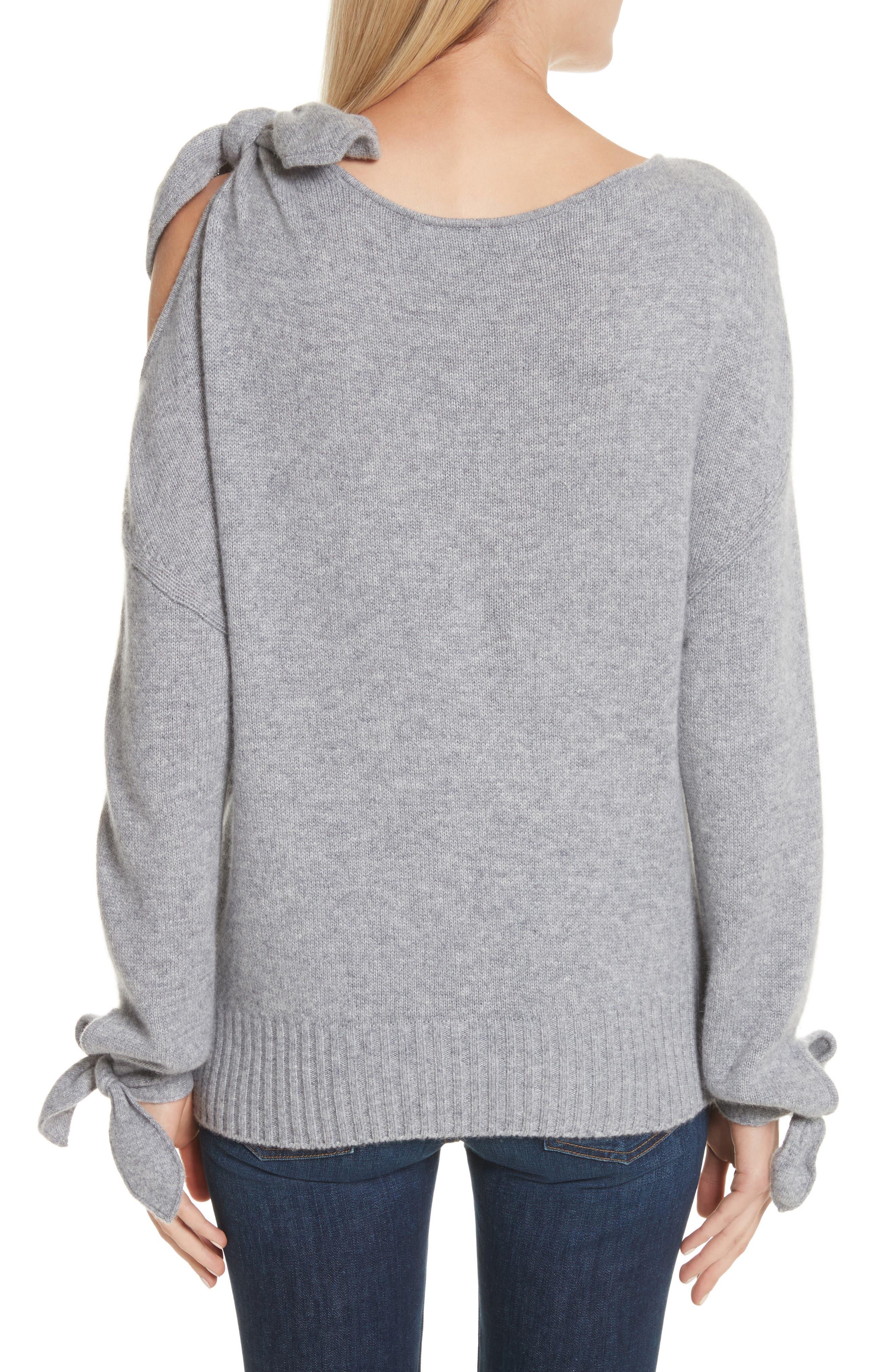 Tie Detail Cashmere Sweater,                             Alternate thumbnail 2, color,