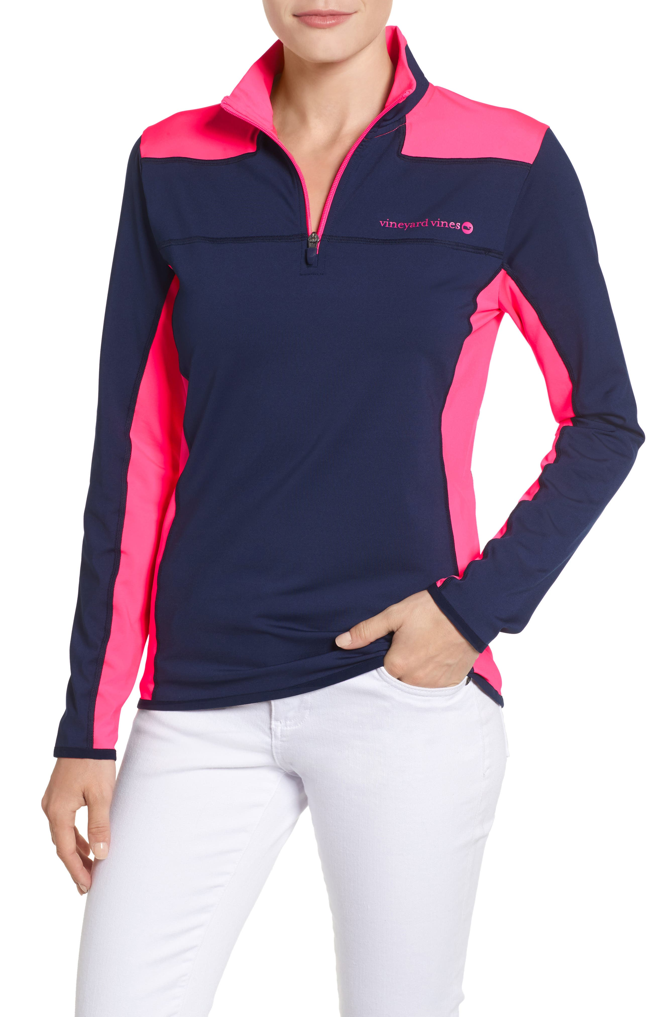 Performance Colorblock Shep Top,                             Main thumbnail 1, color,                             476