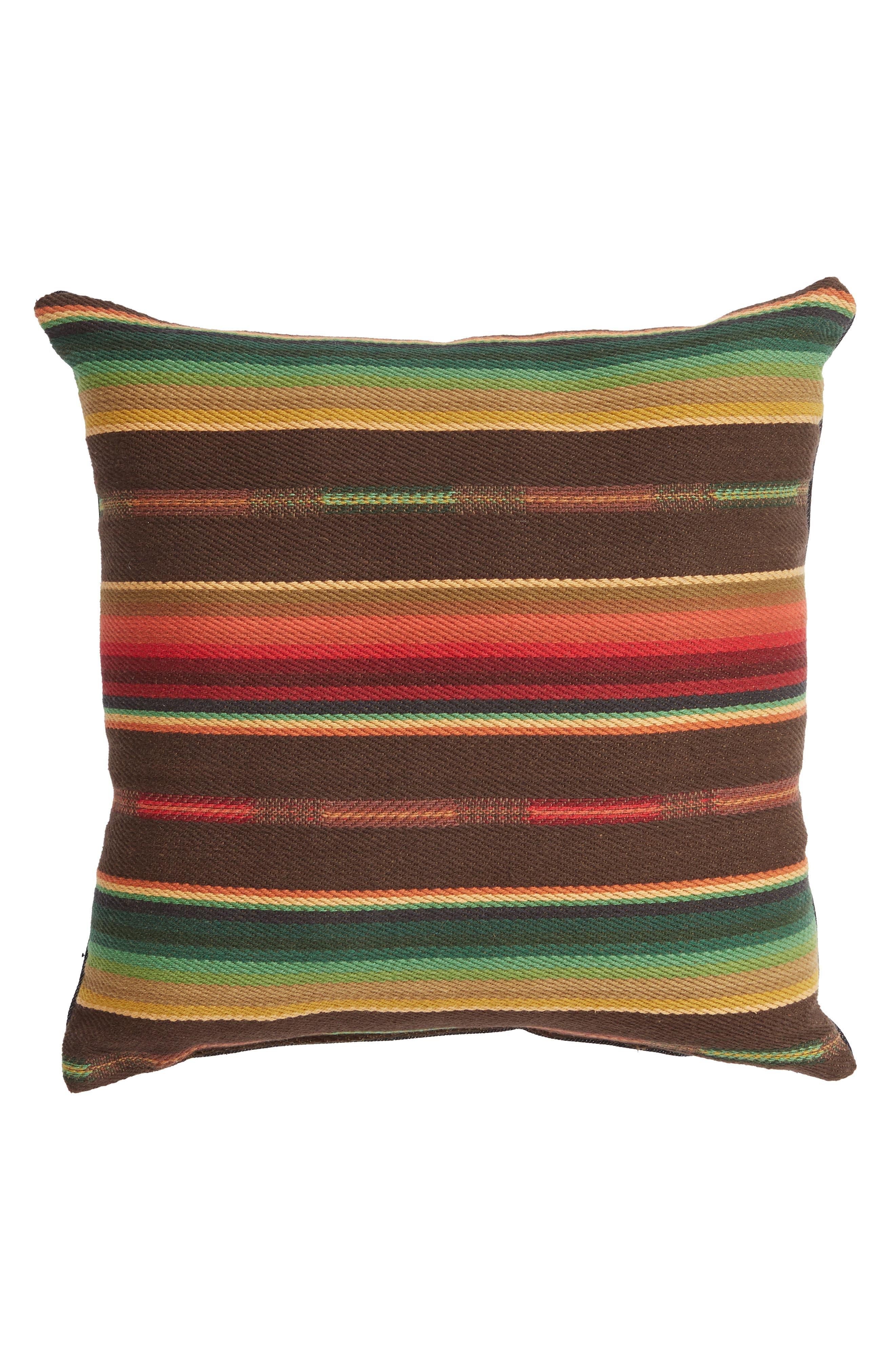 Small Sundance Serape Square Accent Pillow,                             Main thumbnail 1, color,                             001