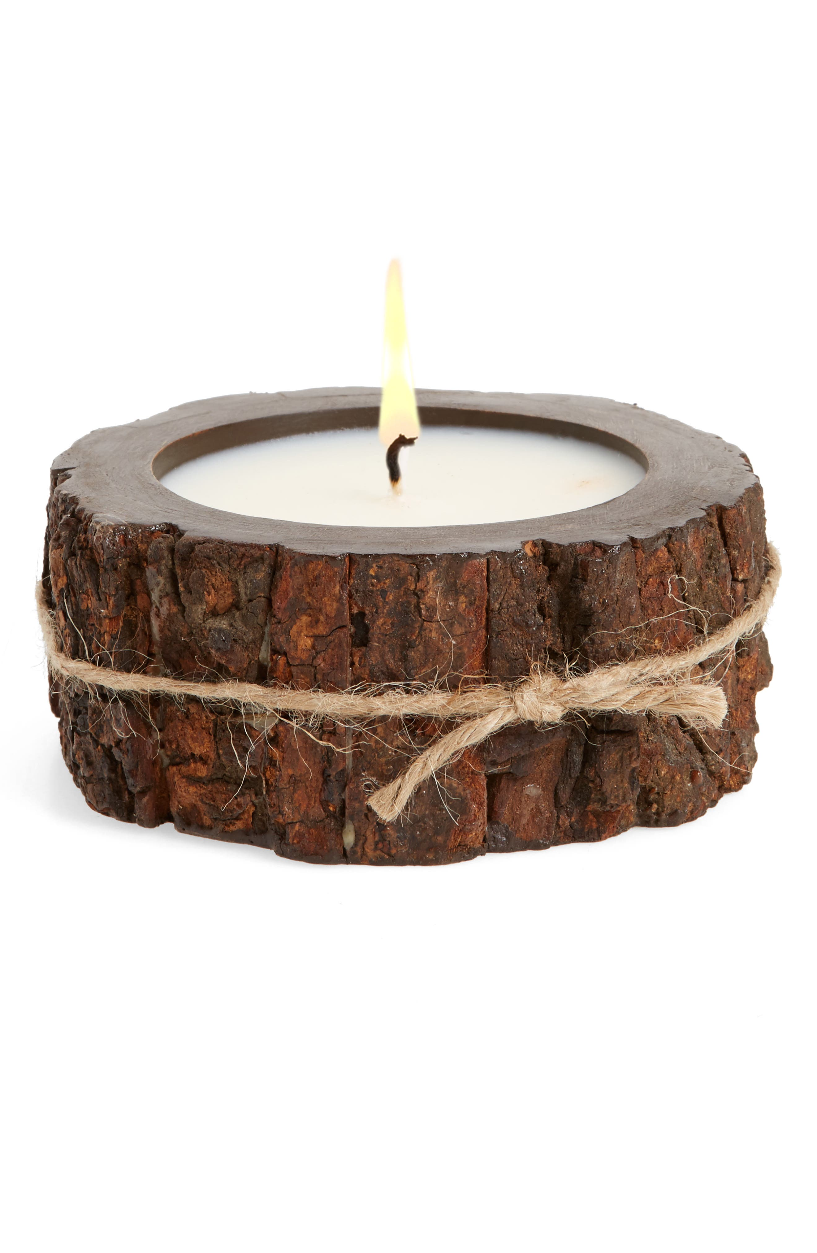 Tree Bark Candle,                             Main thumbnail 1, color,                             203