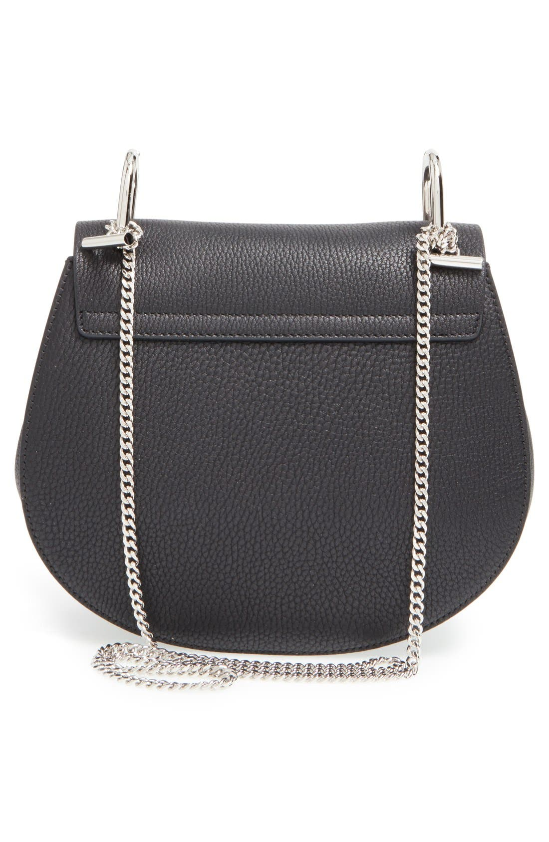 'Small Drew' Leather Shoulder Bag,                             Alternate thumbnail 3, color,                             001