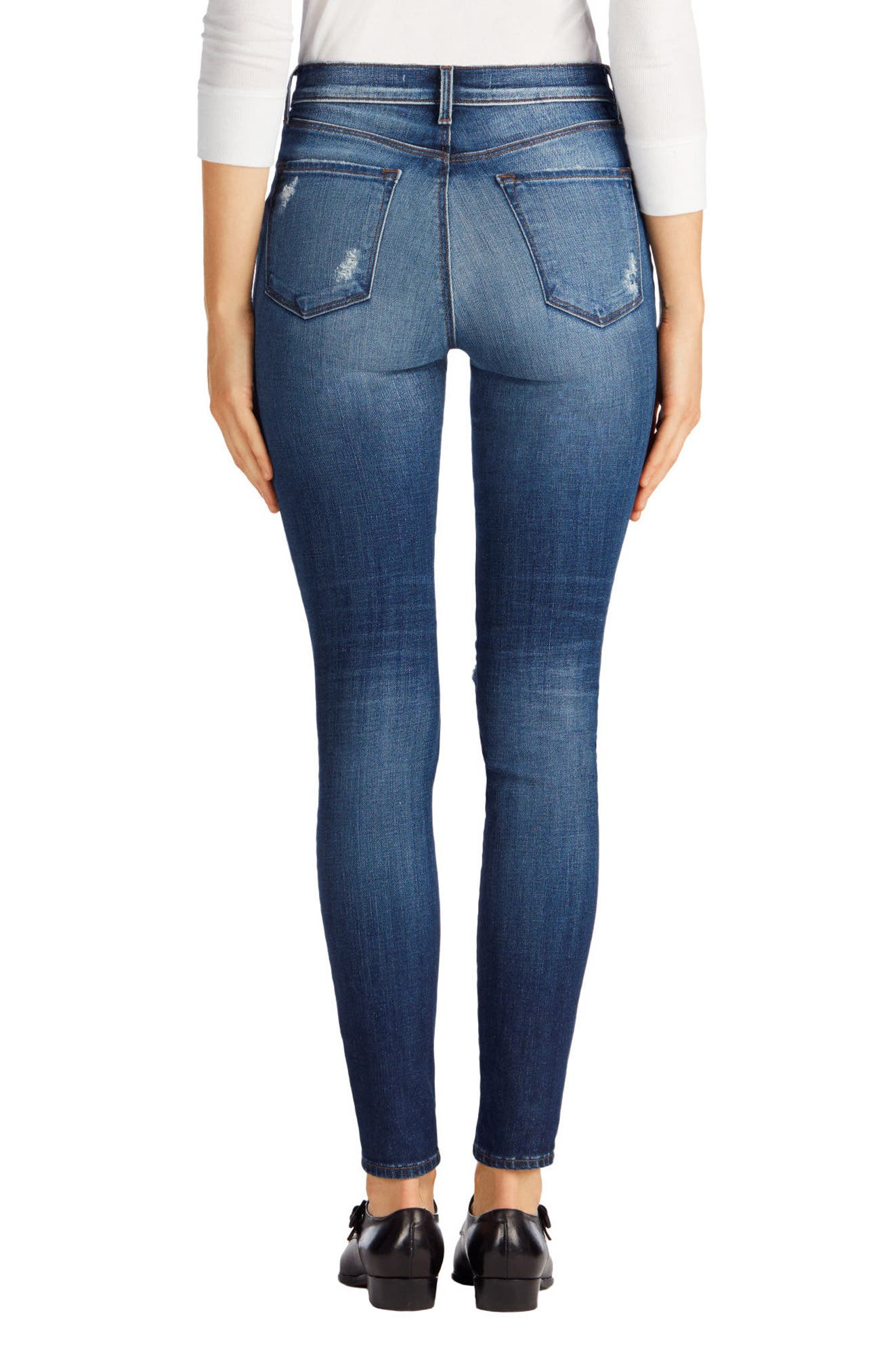 Maria High Waist Skinny Jeans,                             Alternate thumbnail 30, color,