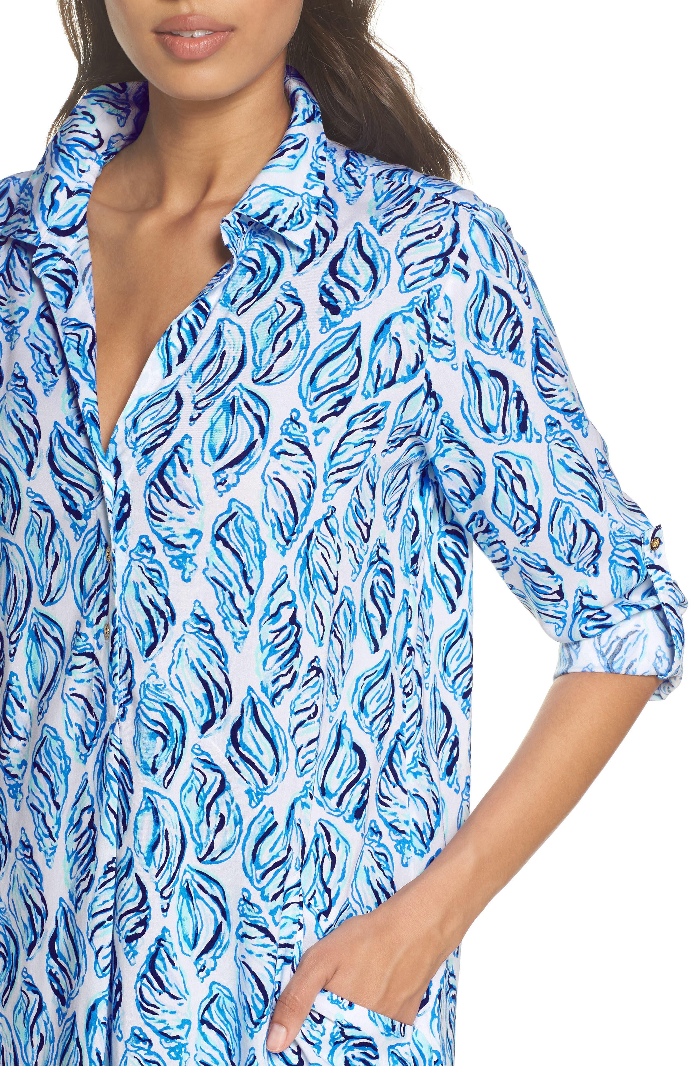 Lillith Shirtdress,                             Alternate thumbnail 4, color,                             100