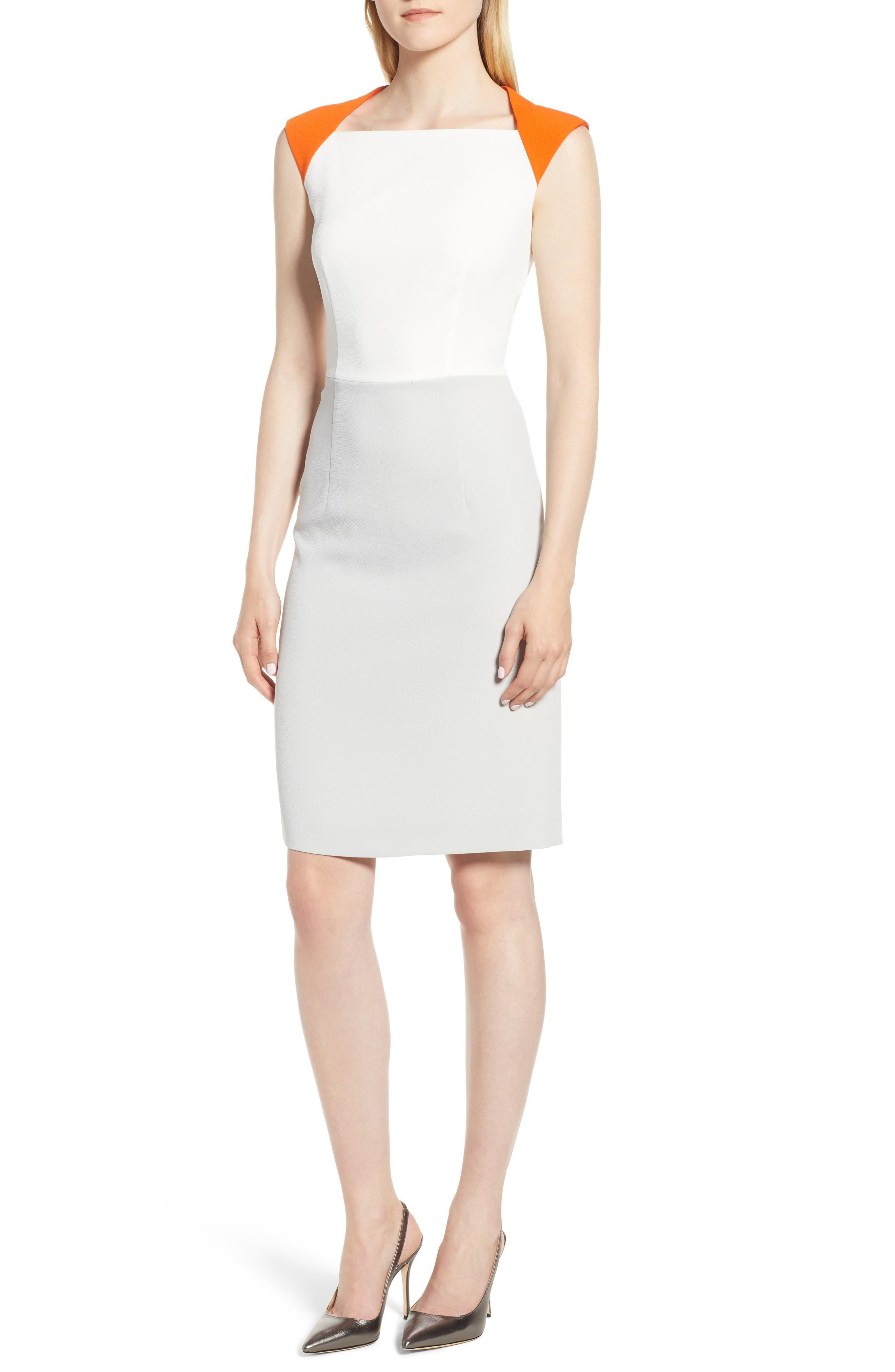 Dekala Colorblock Sheath Dress, Main, color, 021