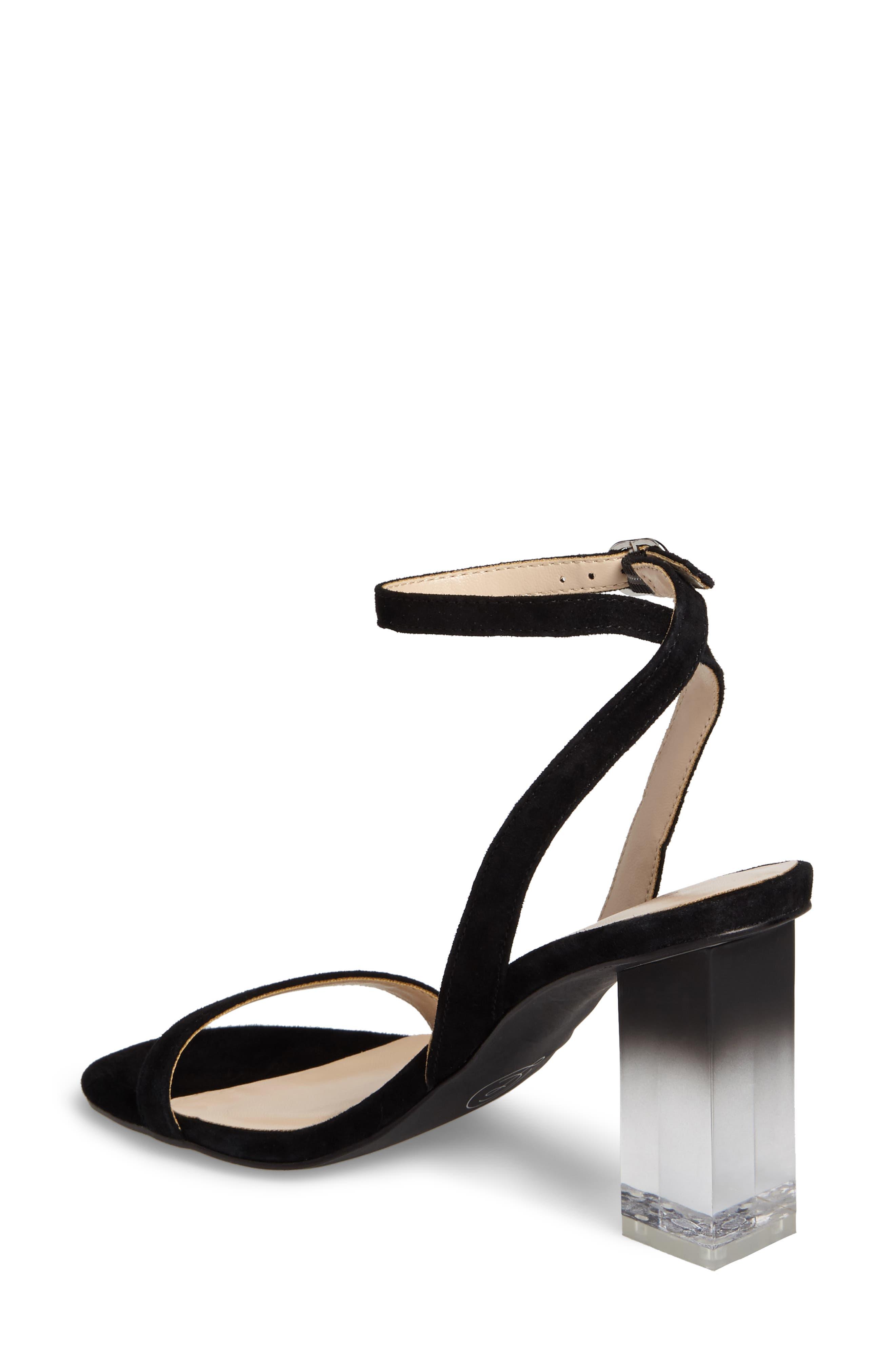 Shanie Clear Heel Sandal,                             Alternate thumbnail 2, color,                             001