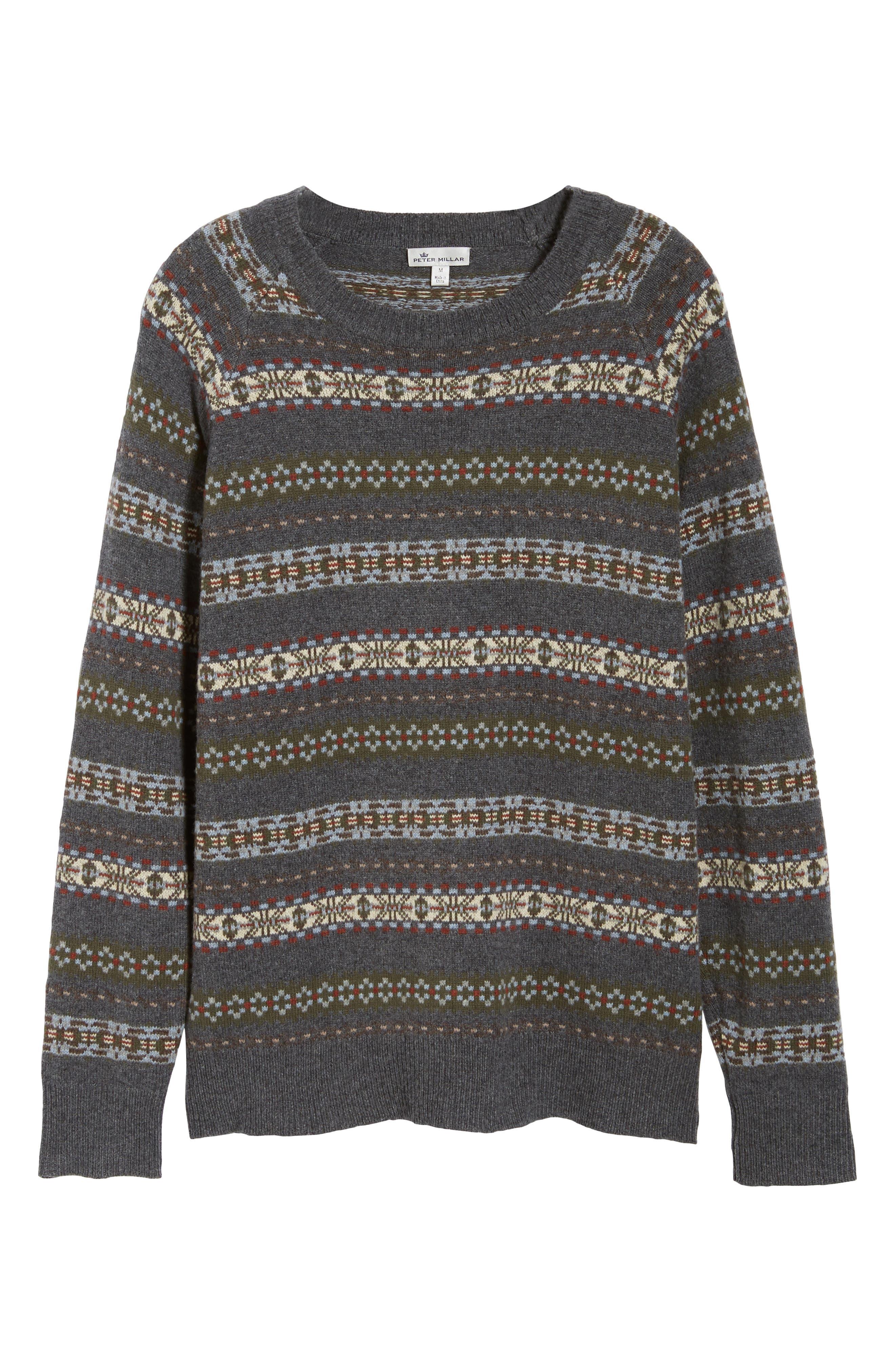 Mountainside Fair Isle Crewneck Sweater,                             Alternate thumbnail 6, color,                             017