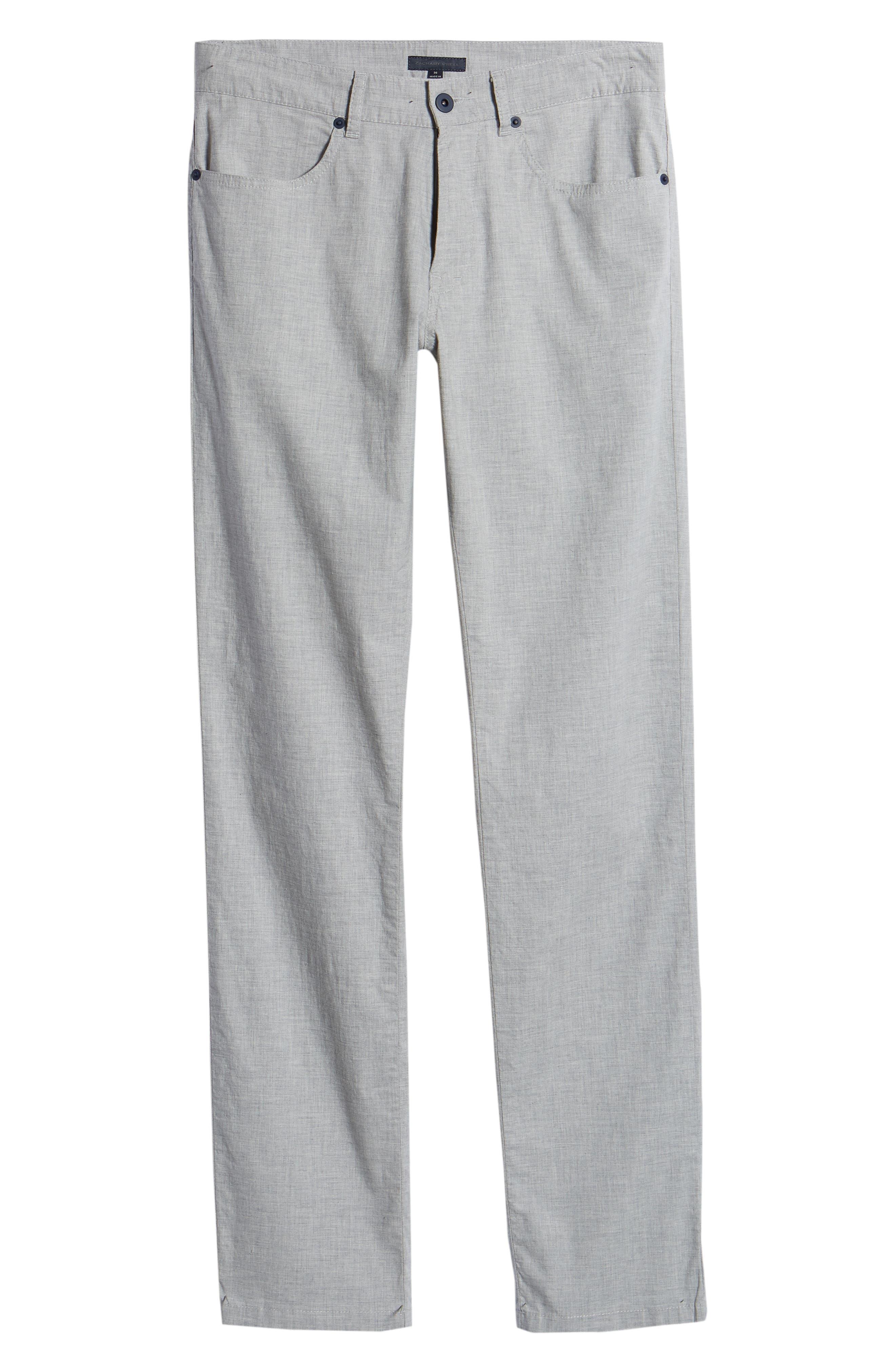 McKinney Regular Fit Straight Leg Pants,                             Alternate thumbnail 6, color,                             GREY