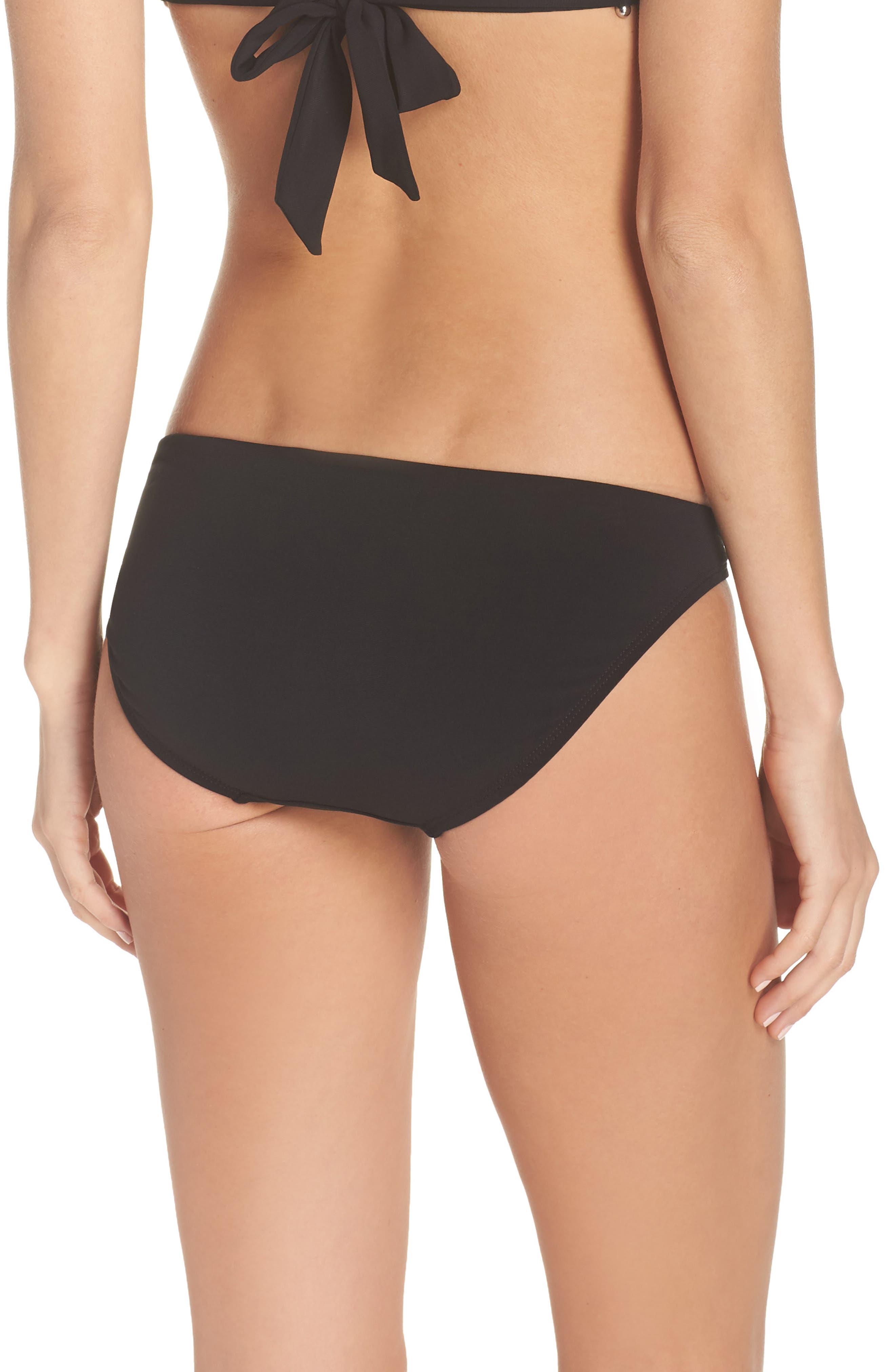 Ava Bikini Bottoms,                             Alternate thumbnail 2, color,                             BLACK
