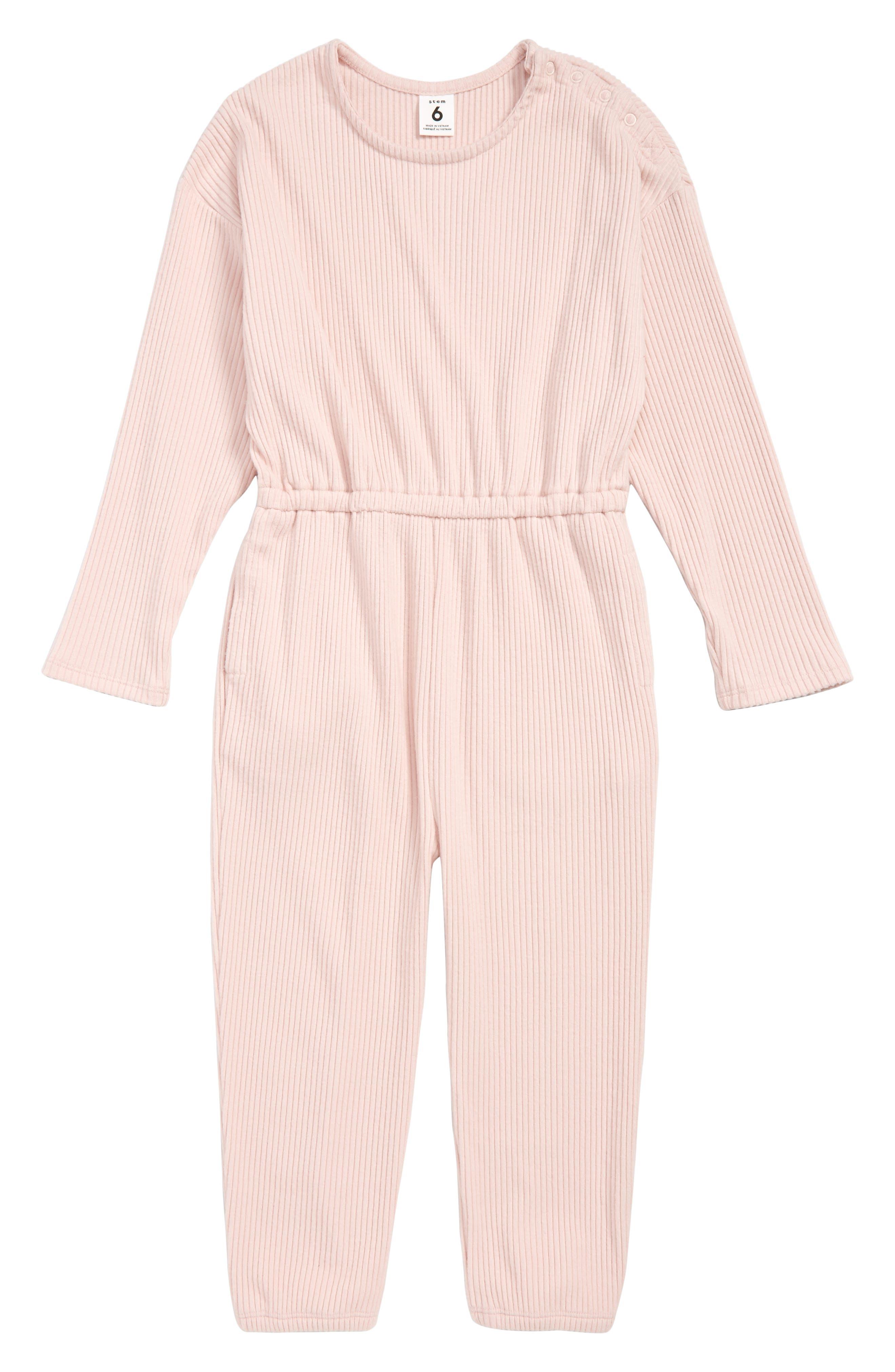 Toddler Girls Stem Ribbed Jumpsuit Size 3T  Pink
