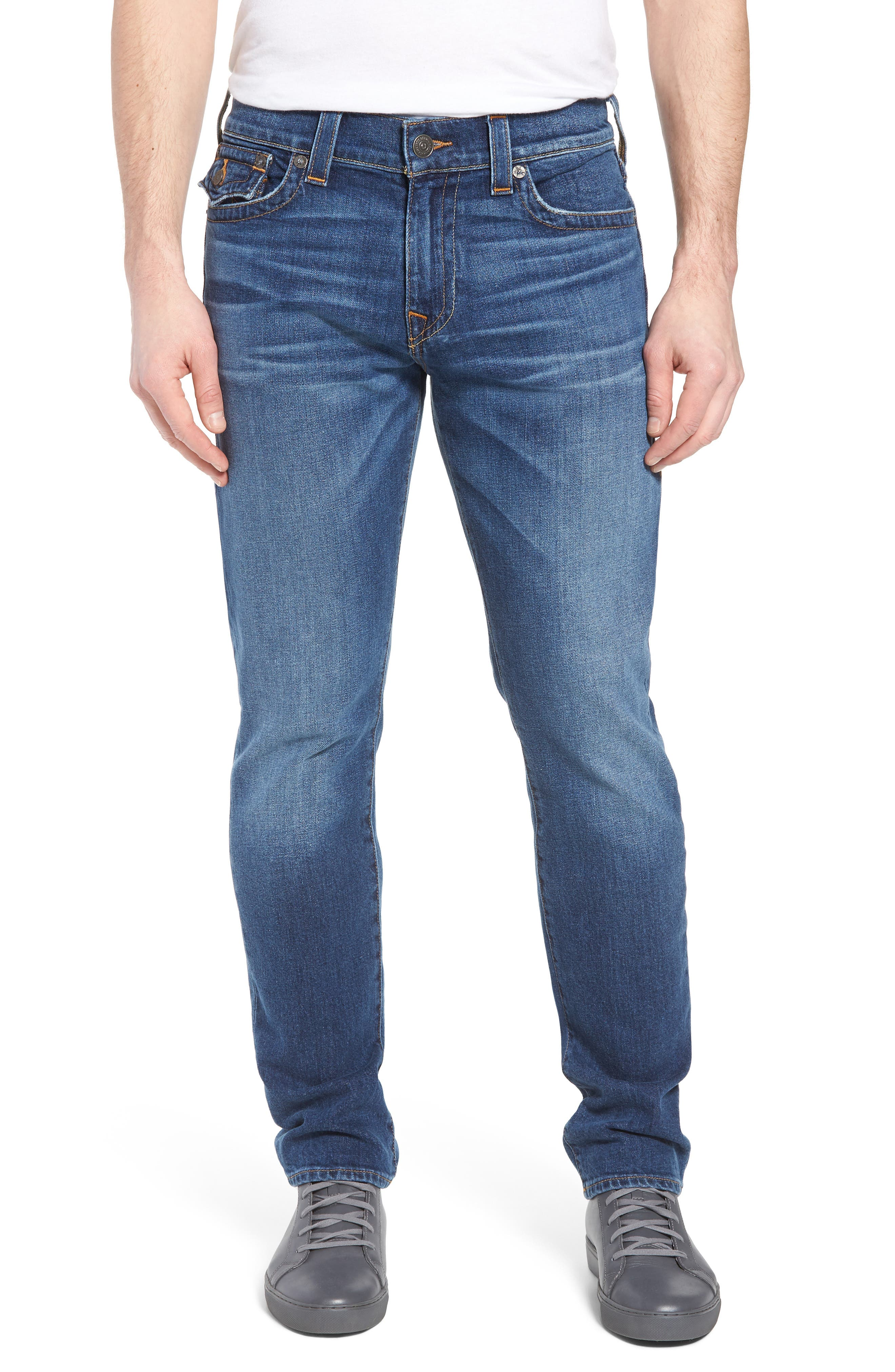 Ricky Relaxed Fit Jeans,                             Main thumbnail 1, color,                             INDIGO TRAVELER