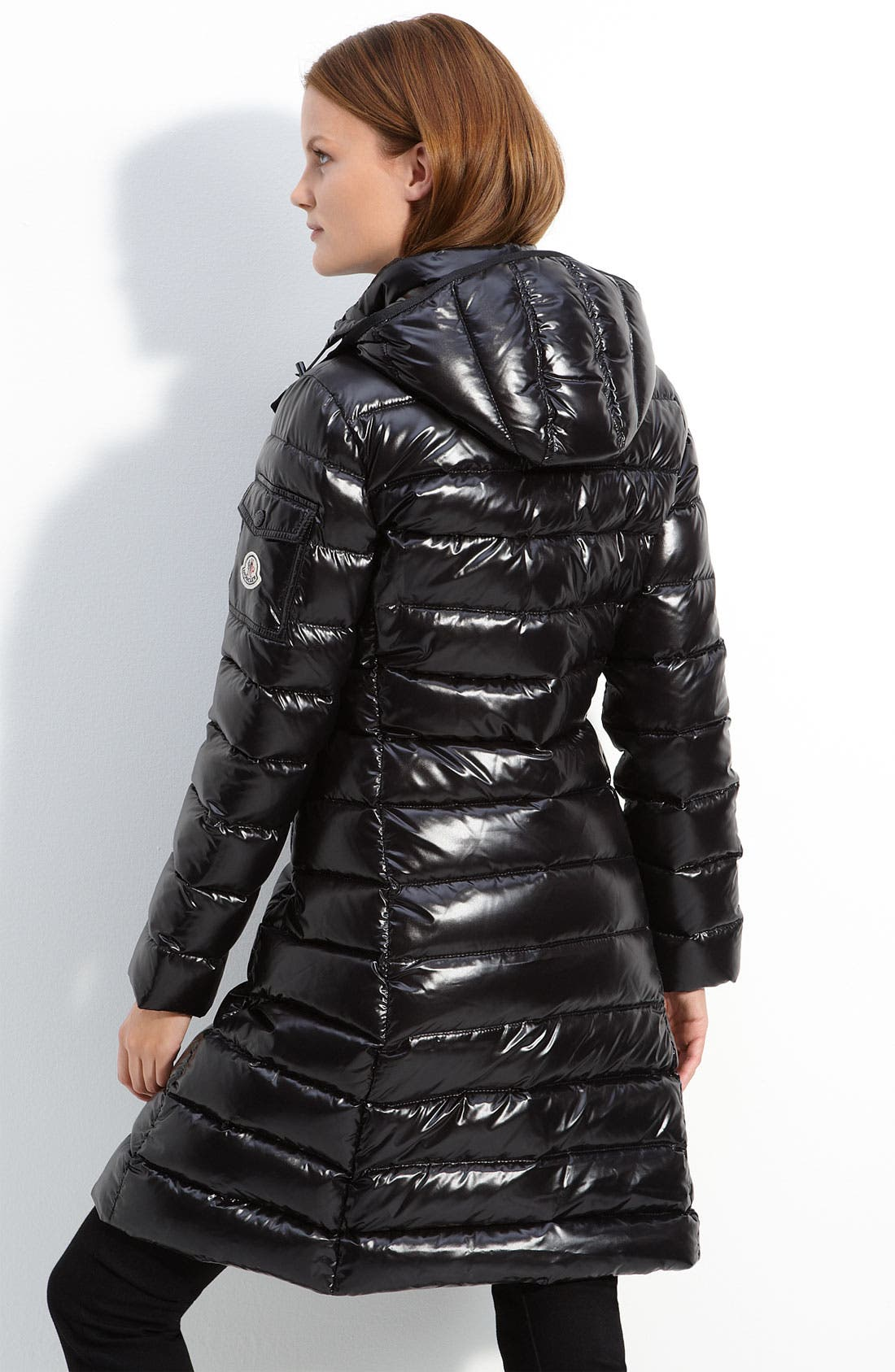 MONCLER,                             'Moka' Quilted Down Coat,                             Alternate thumbnail 2, color,                             001