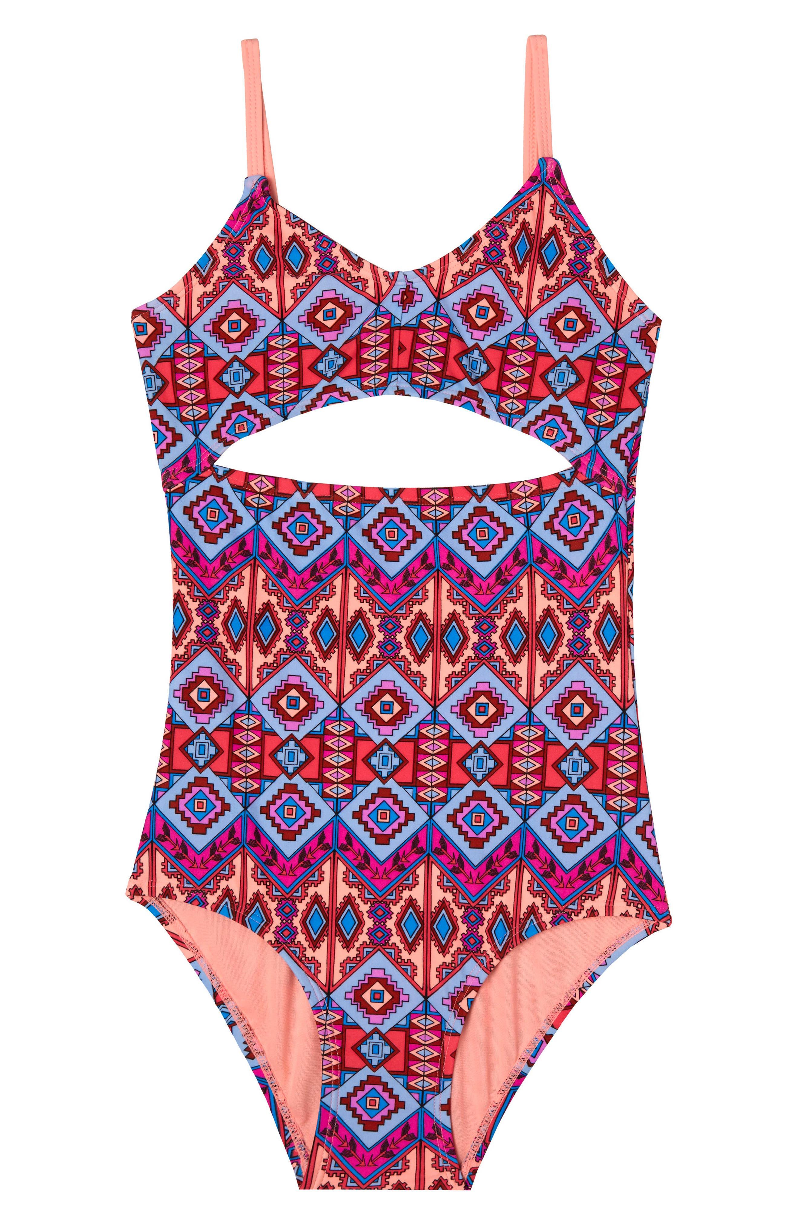Brave Spirit One-Piece Swimsuit,                             Main thumbnail 1, color,                             958