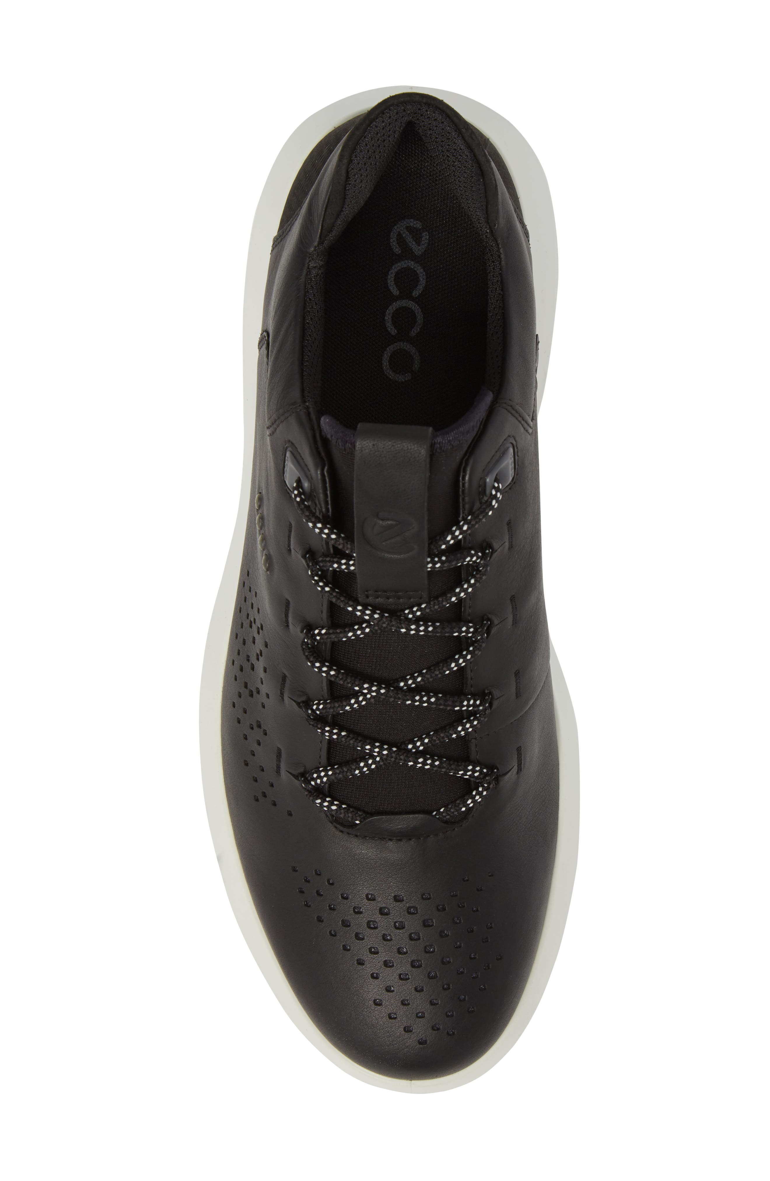 Scinapse Sneaker,                             Alternate thumbnail 5, color,                             BLACK LEATHER