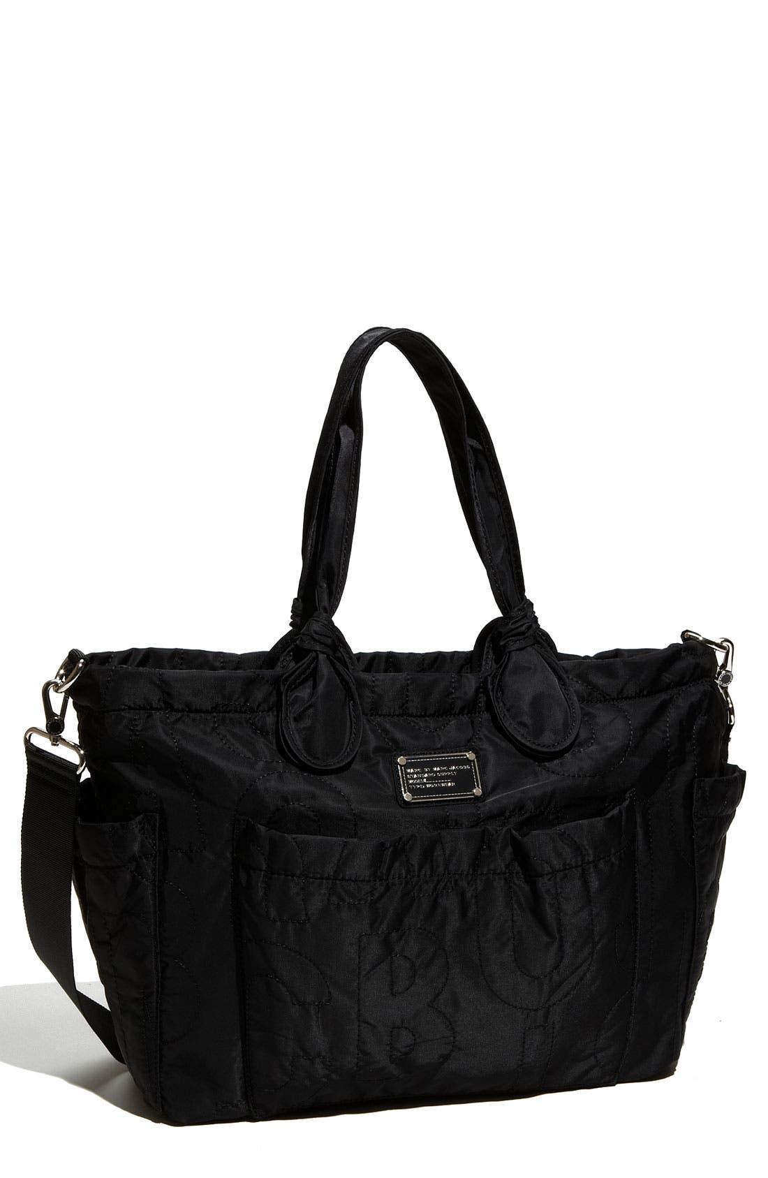 MARC BY MARC JACOBS 'Pretty Nylon Eliz-A-Baby' Diaper Bag,                         Main,                         color, 001