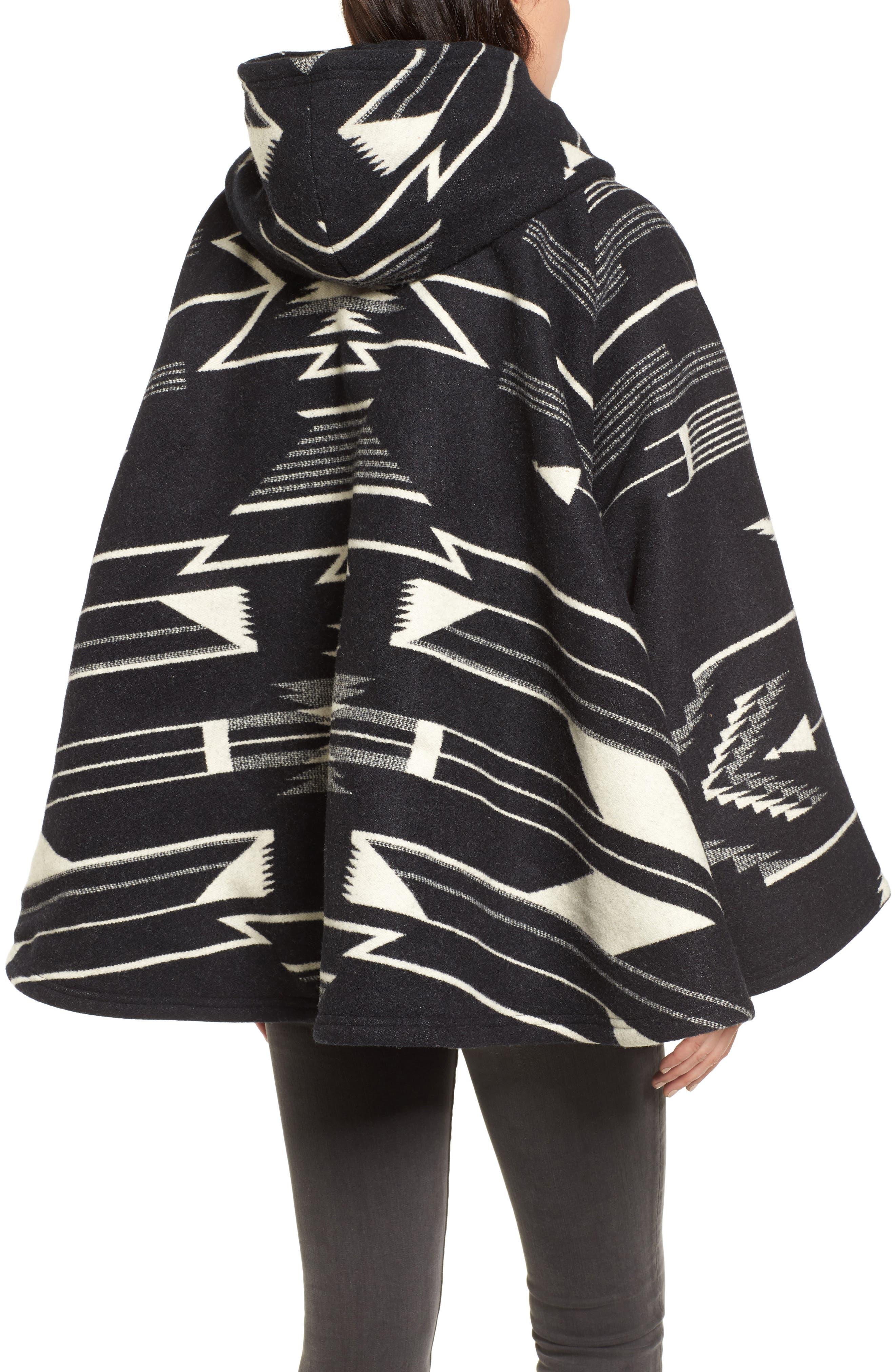 LINDSEY THORNBURG,                             x Pendleton Wool Blend Hooded Cape,                             Alternate thumbnail 2, color,                             005