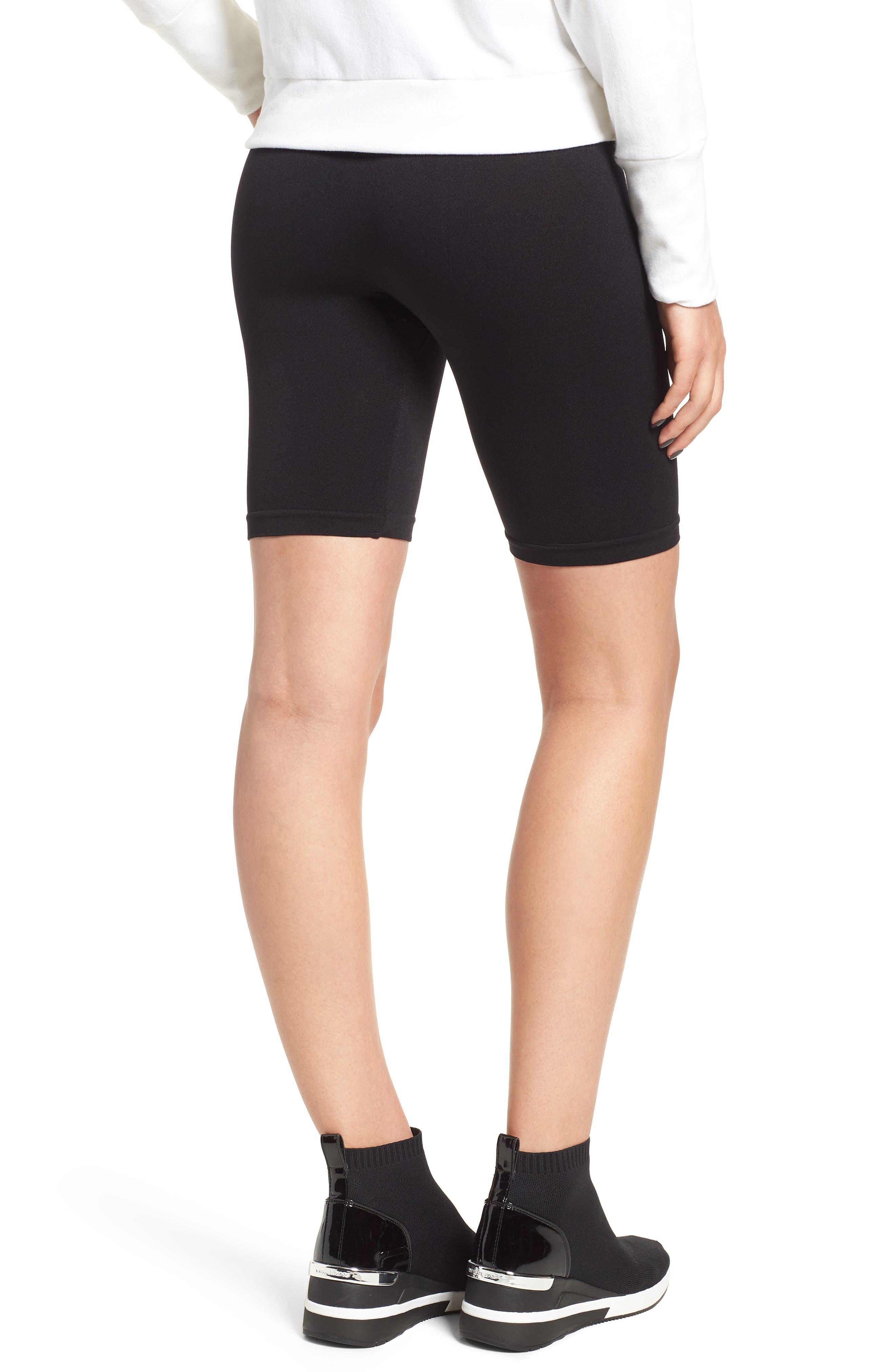 Seamless Bike Shorts,                             Alternate thumbnail 2, color,                             BLACK