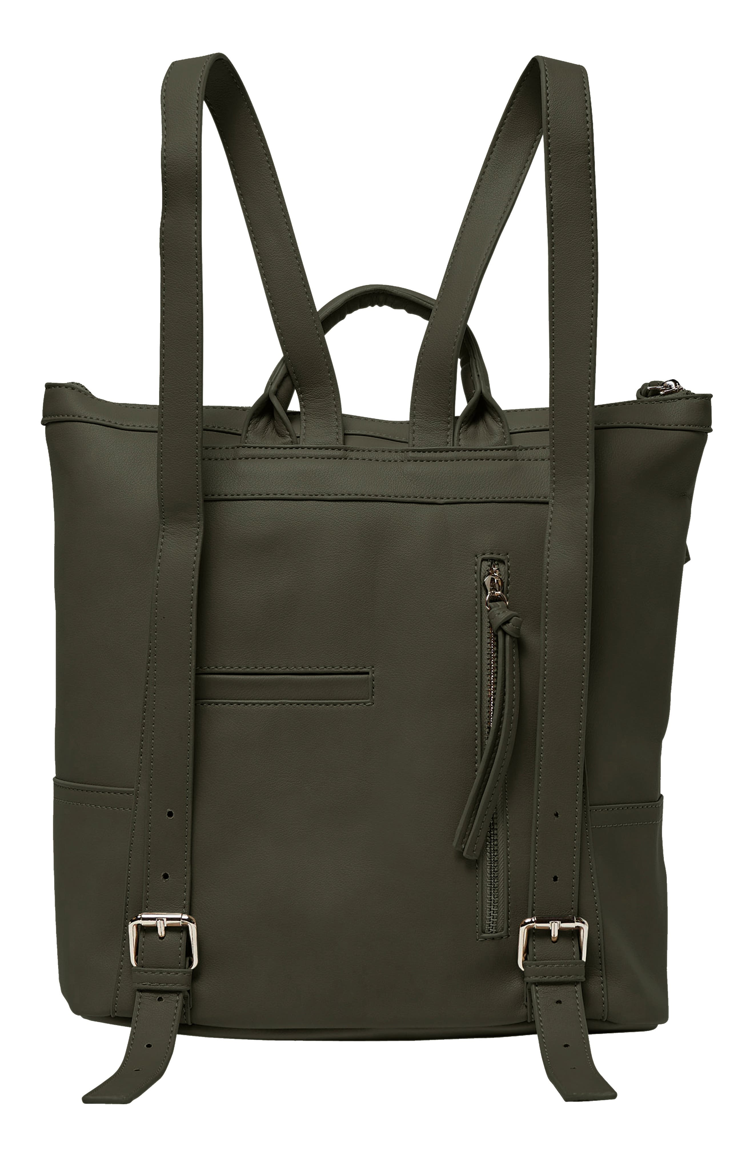 Eternity Vegan Leather Backpack,                             Alternate thumbnail 2, color,                             ARMY GREEN