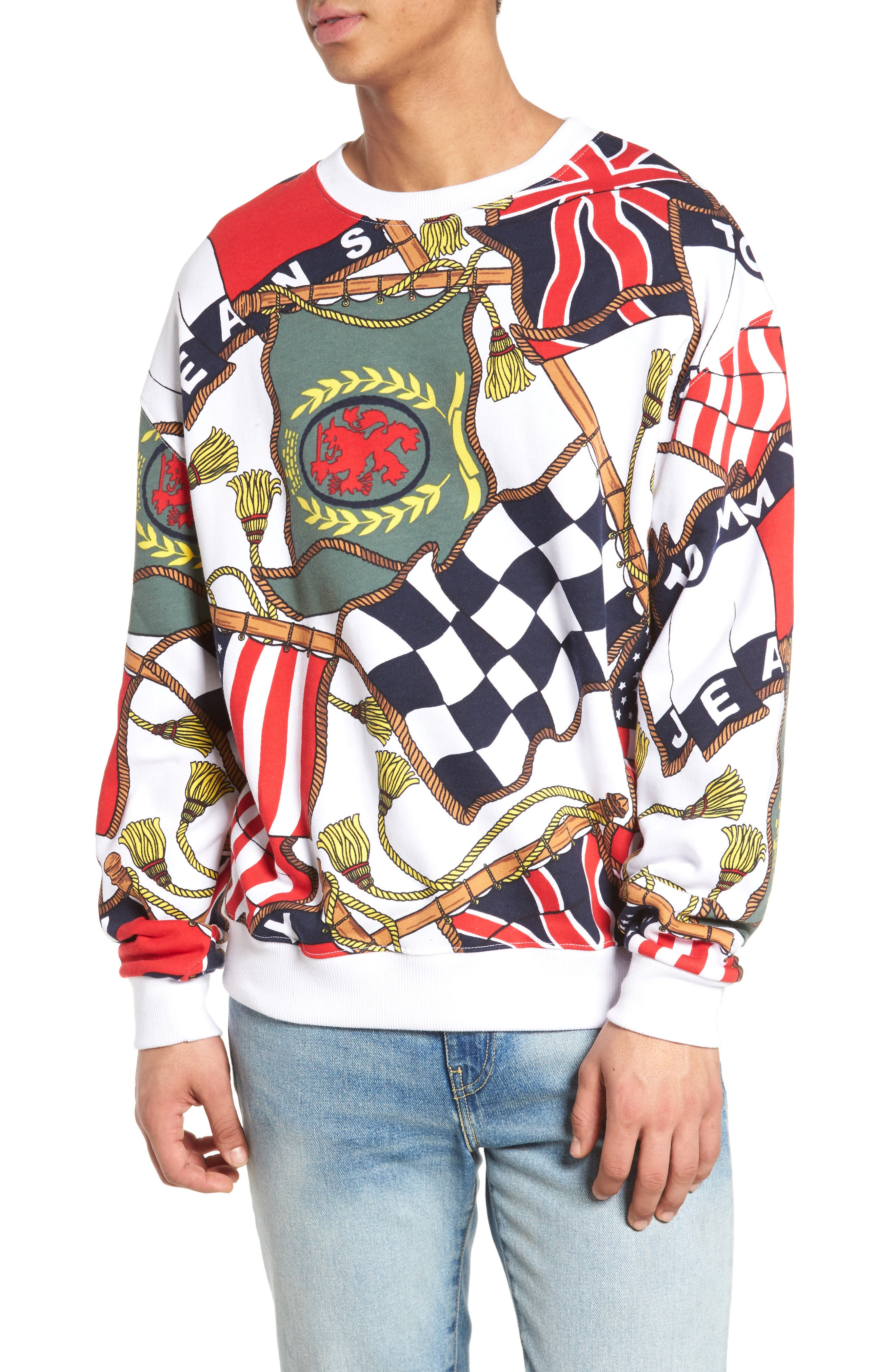 TOMMY HILFIGER 90s Sweatshirt, Main, color, 101
