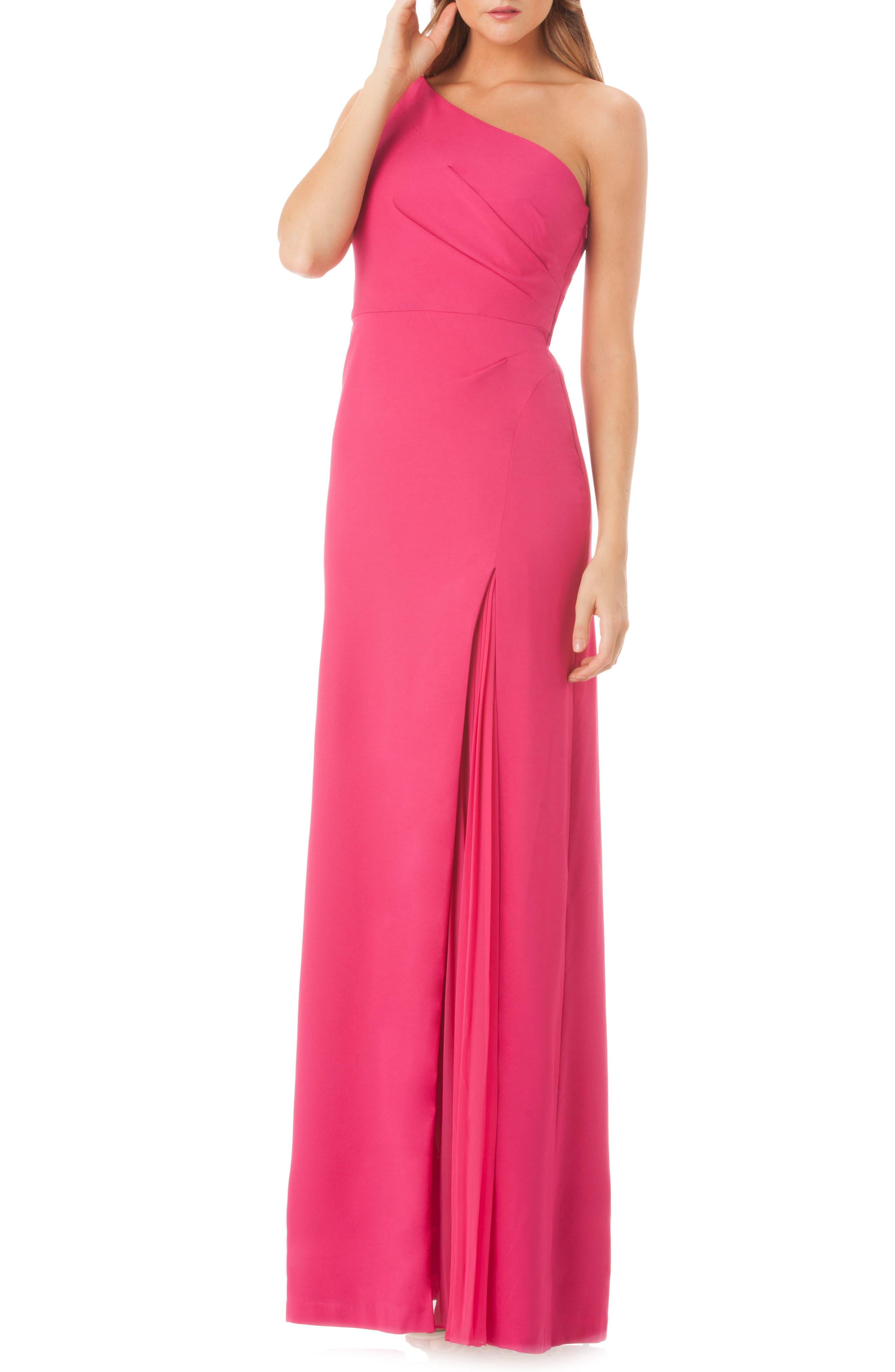 One-Shoulder Gown,                             Main thumbnail 1, color,                             650