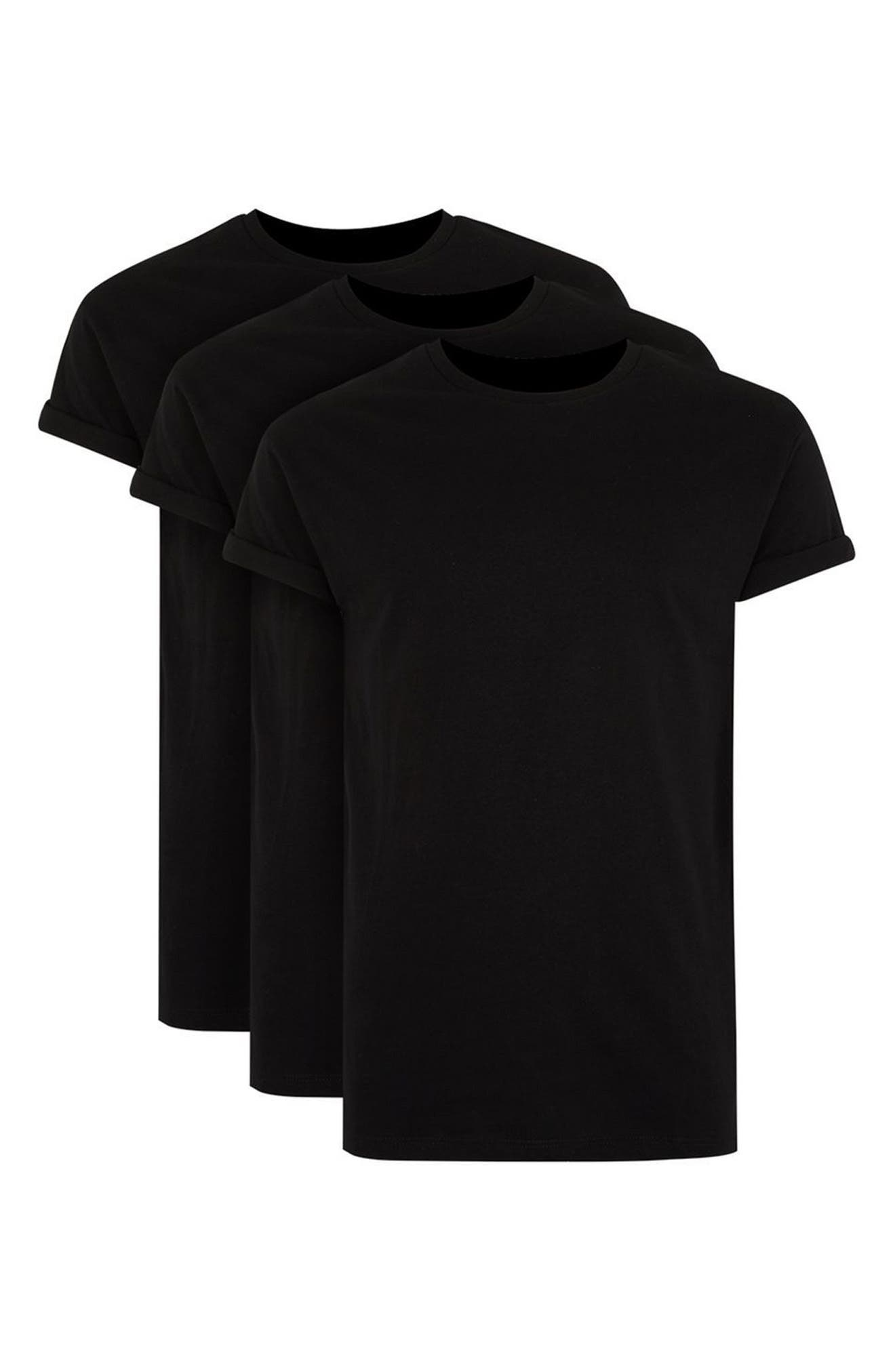 Muscle Fit Roller T-Shirt,                             Alternate thumbnail 4, color,                             001