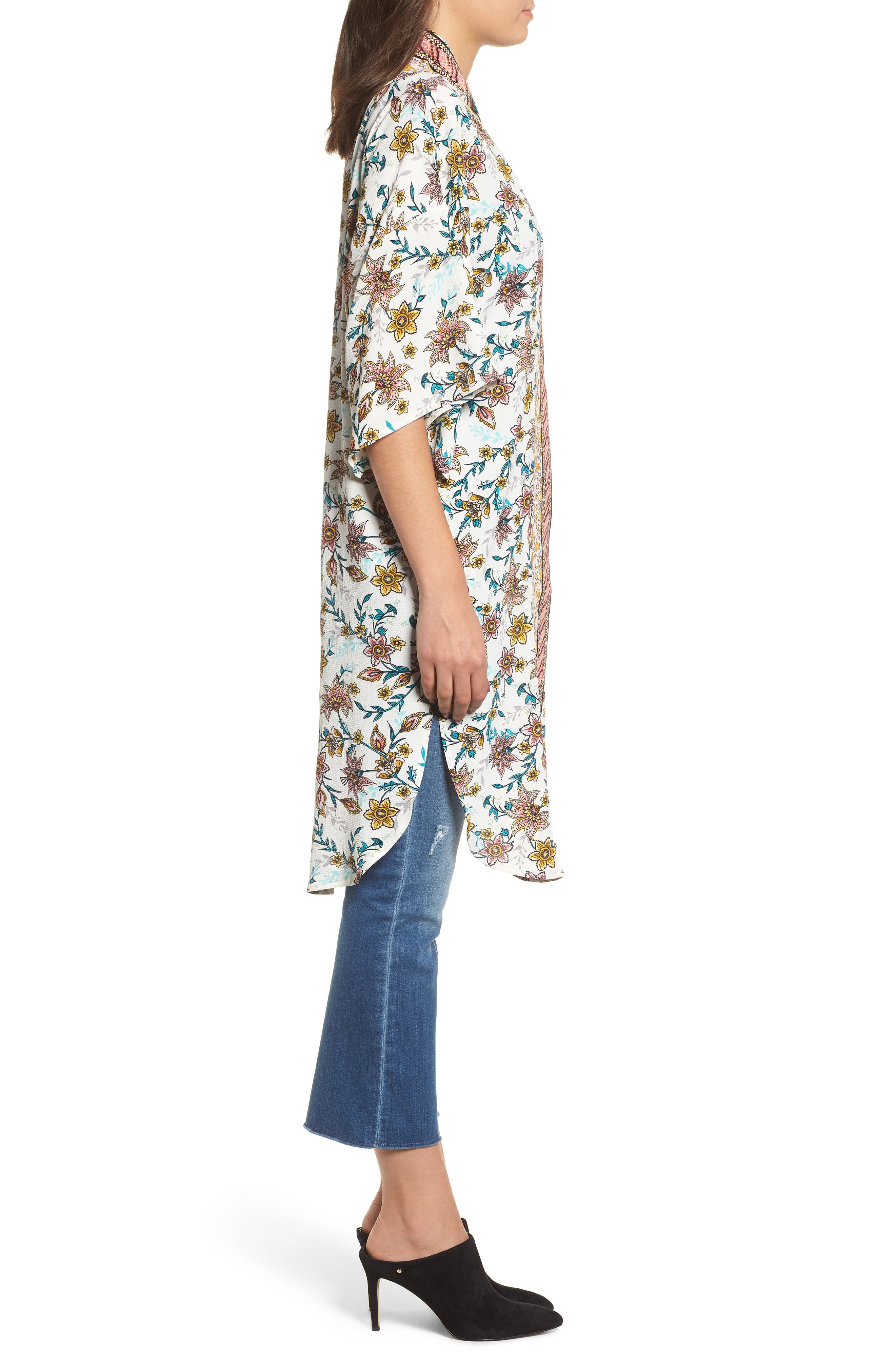 Print Kimono,                             Alternate thumbnail 3, color,                             100