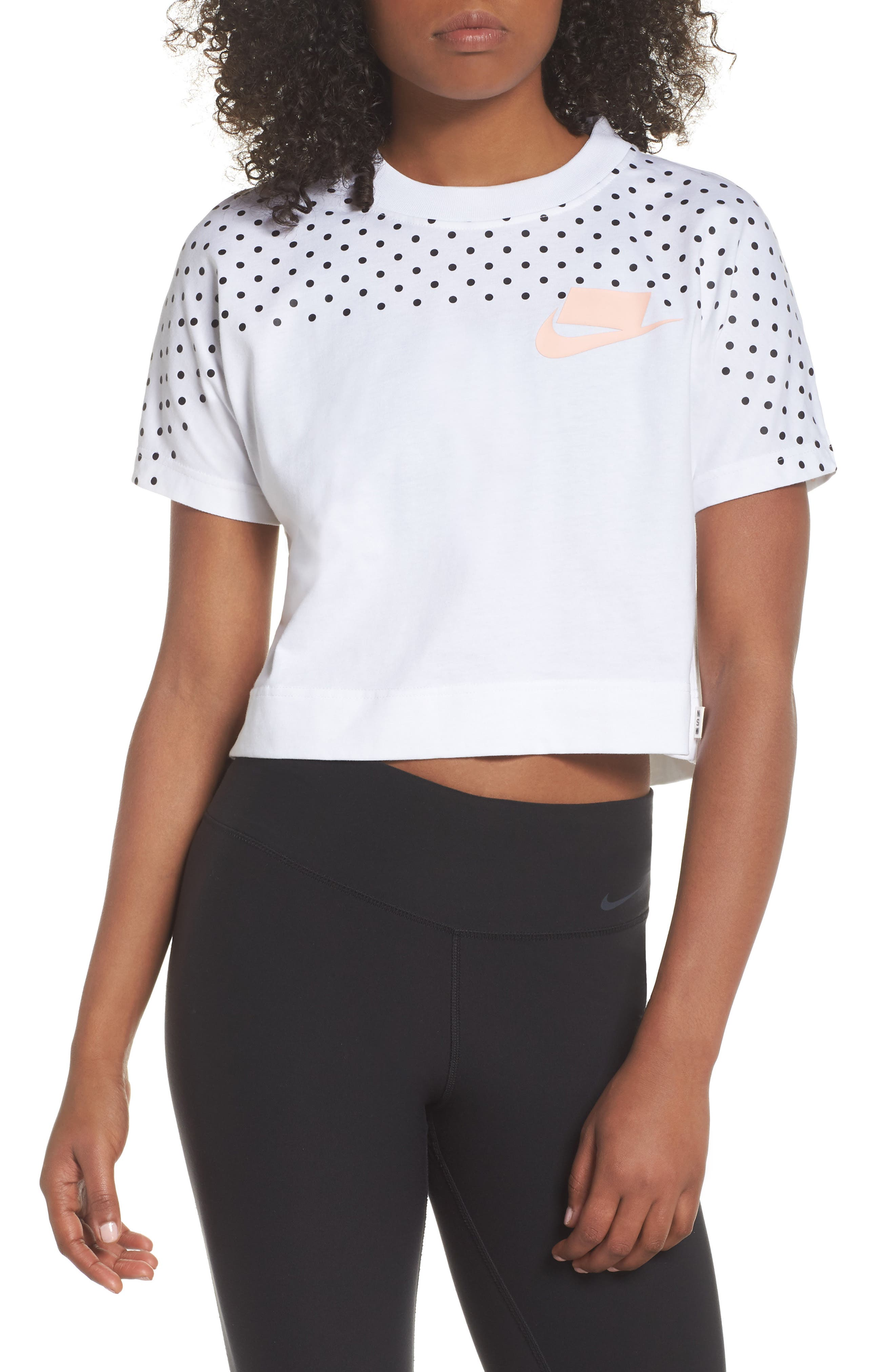 Sportswear NSW Women's Short Sleeve Crop Top,                             Alternate thumbnail 2, color,                             100