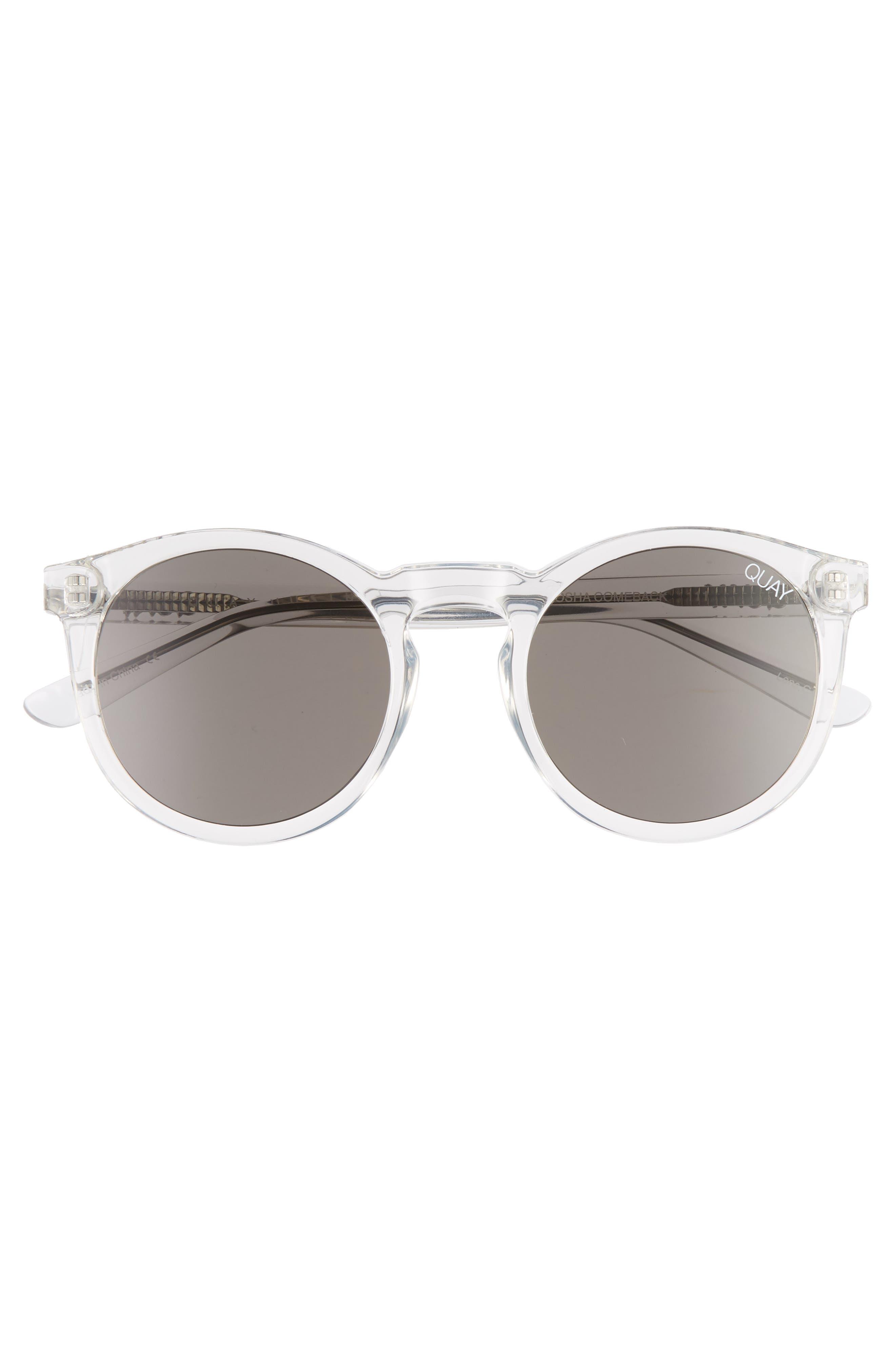 Kosha 49mm Round Sunglasses,                             Alternate thumbnail 3, color,                             100