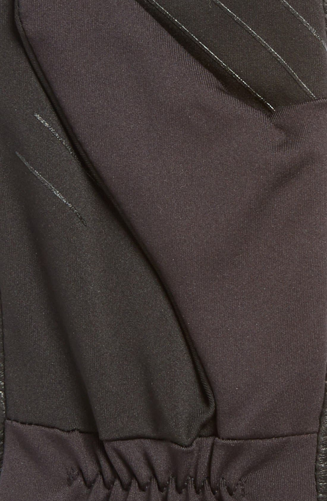 Leather Tech Gloves,                             Alternate thumbnail 3, color,                             001