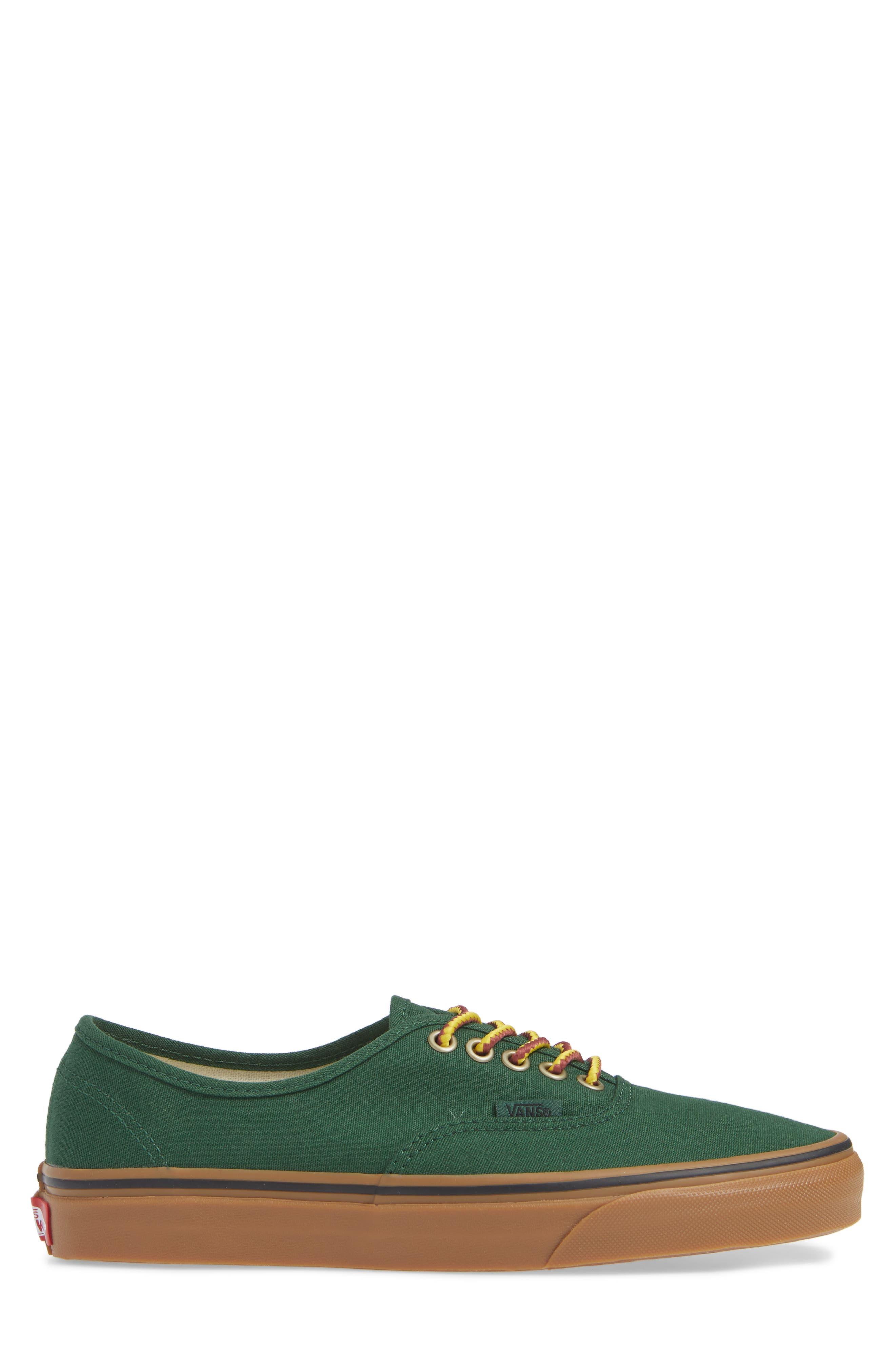 Authentic Sneaker,                             Alternate thumbnail 3, color,                             GREEN EDEN