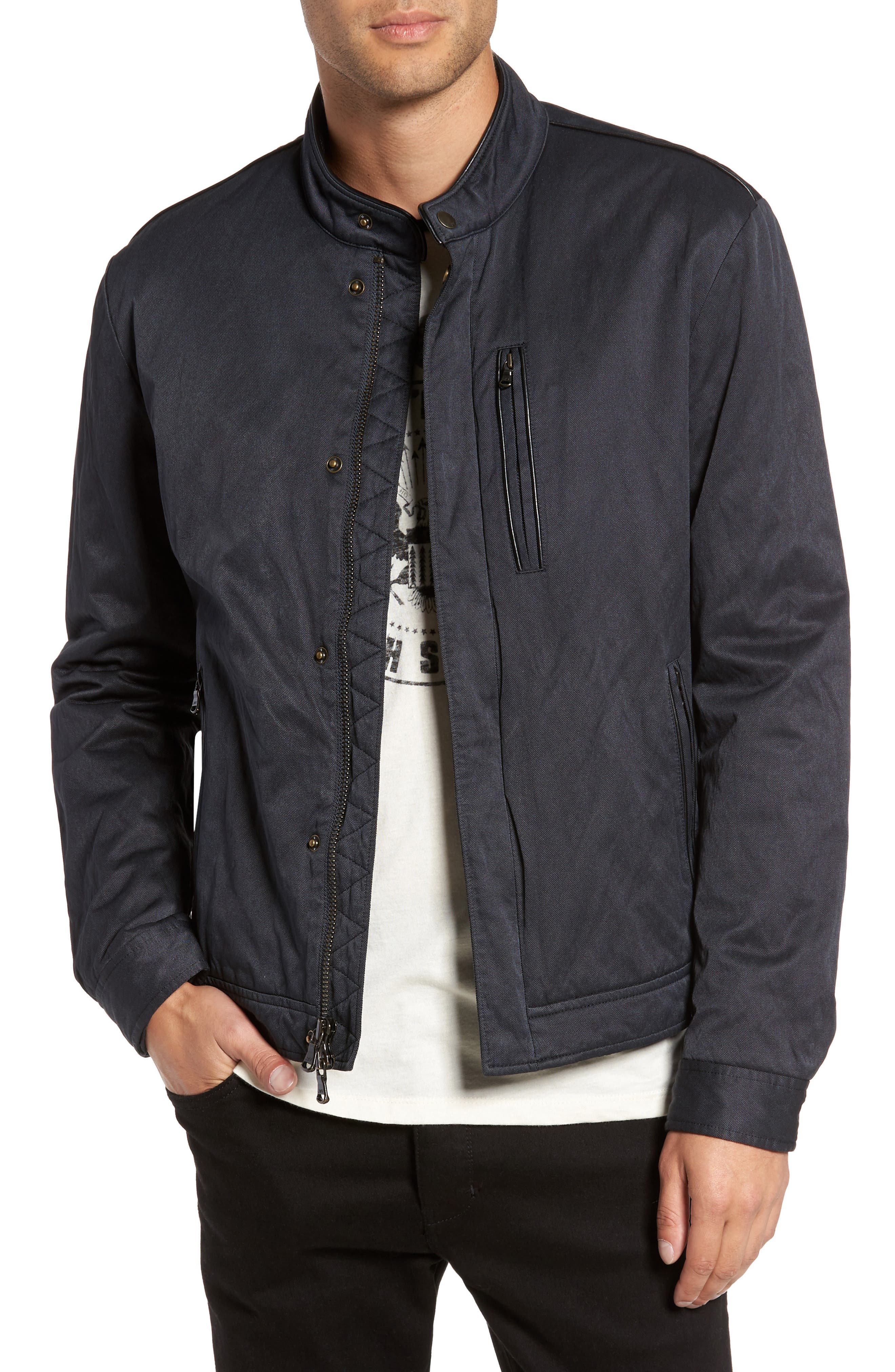 Band Collar Jacket,                         Main,                         color, 414