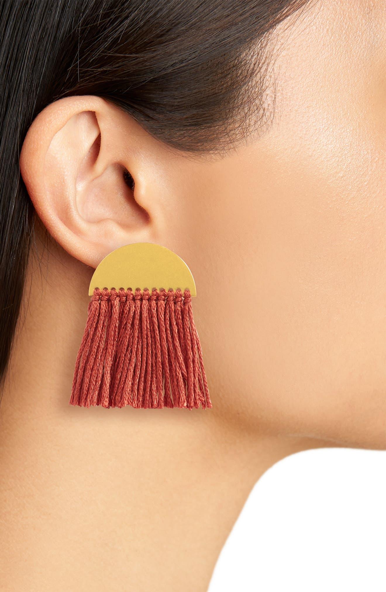 Halfmoon Fringe Earrings,                             Alternate thumbnail 2, color,                             712