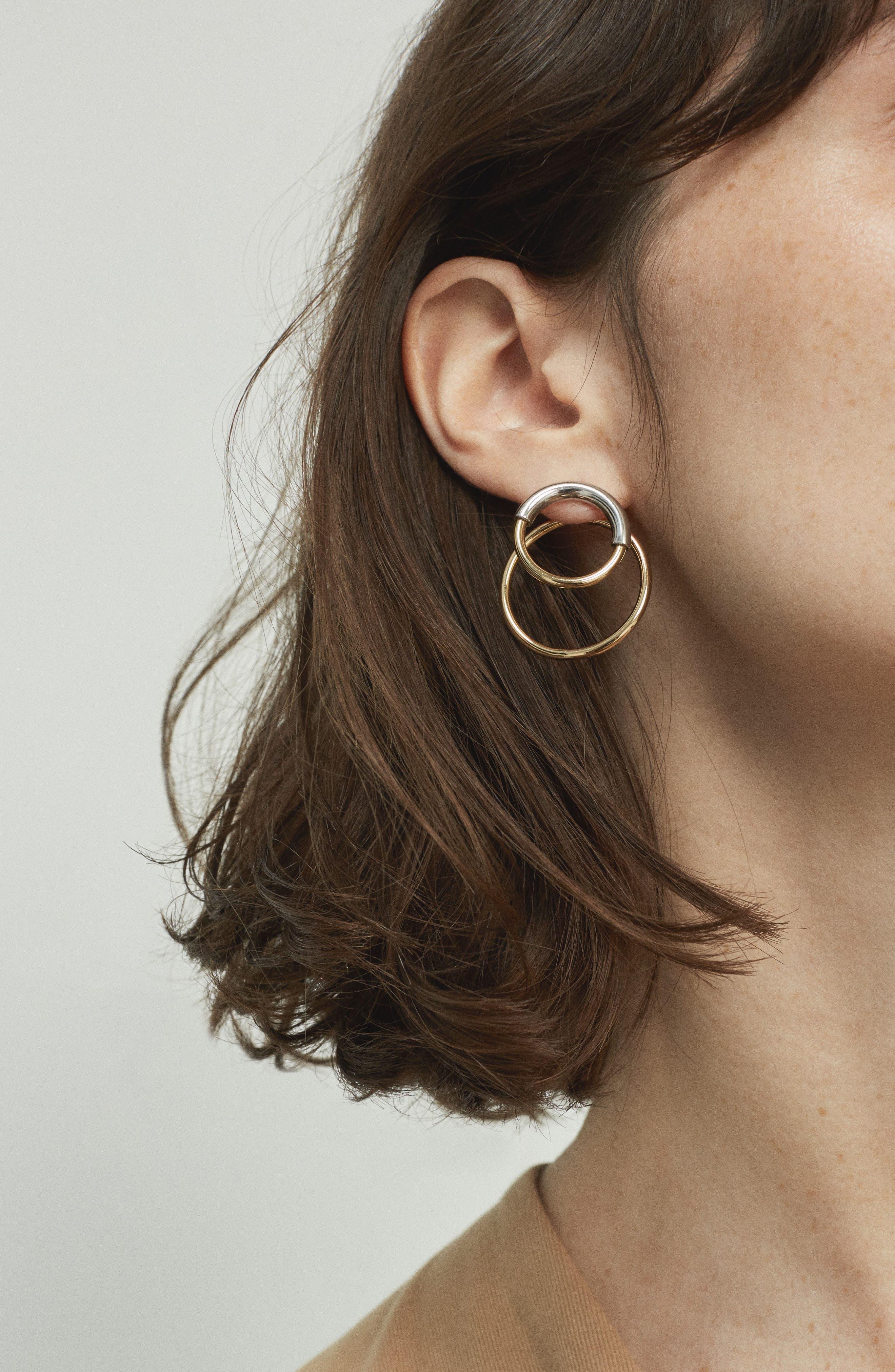 Ossie Drop Back Hoop Earrings,                             Alternate thumbnail 8, color,