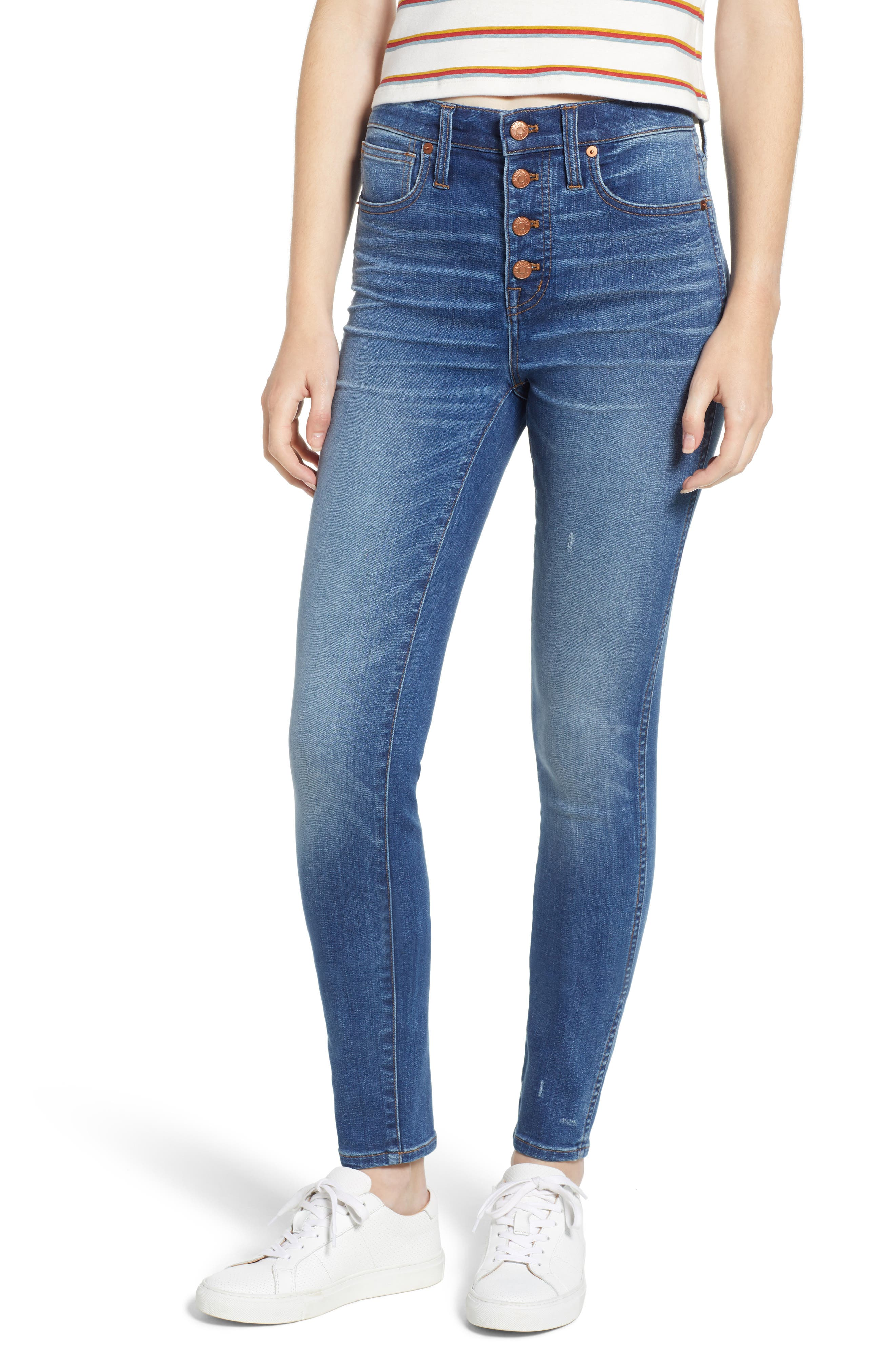 10-Inch High Waist Skinny Jeans,                             Main thumbnail 1, color,                             400