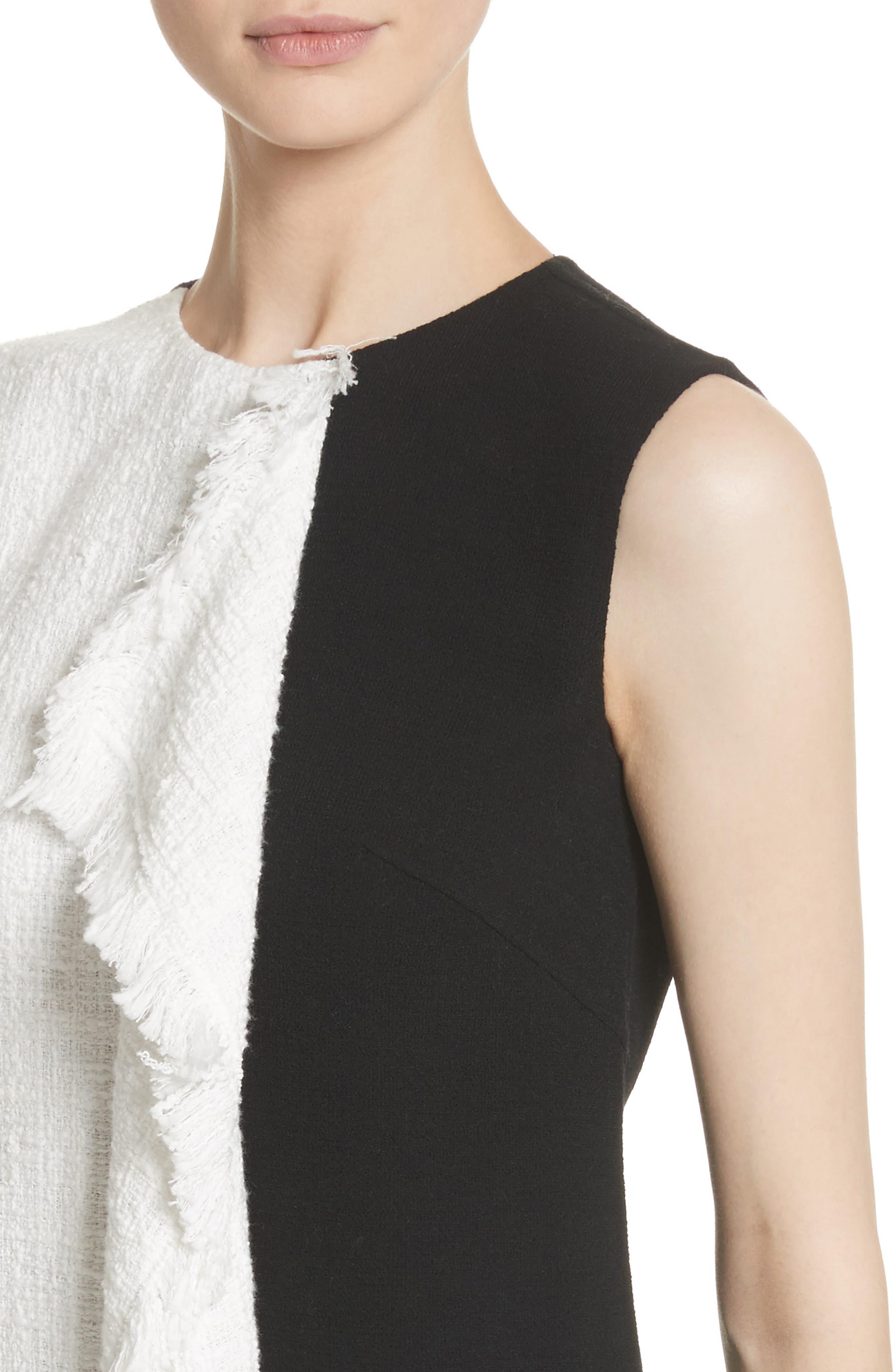 Cascade Tweed Shift Dress,                             Alternate thumbnail 4, color,                             188