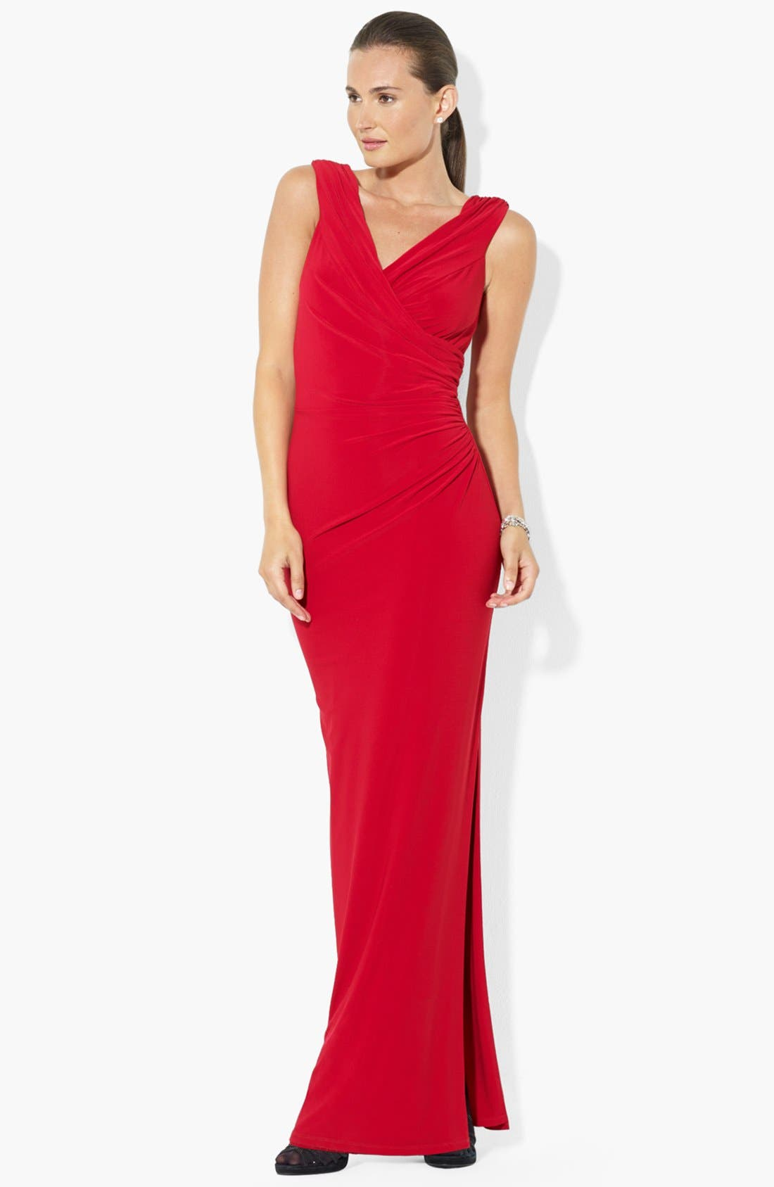 Matte Jersey Gown, Main, color, 601