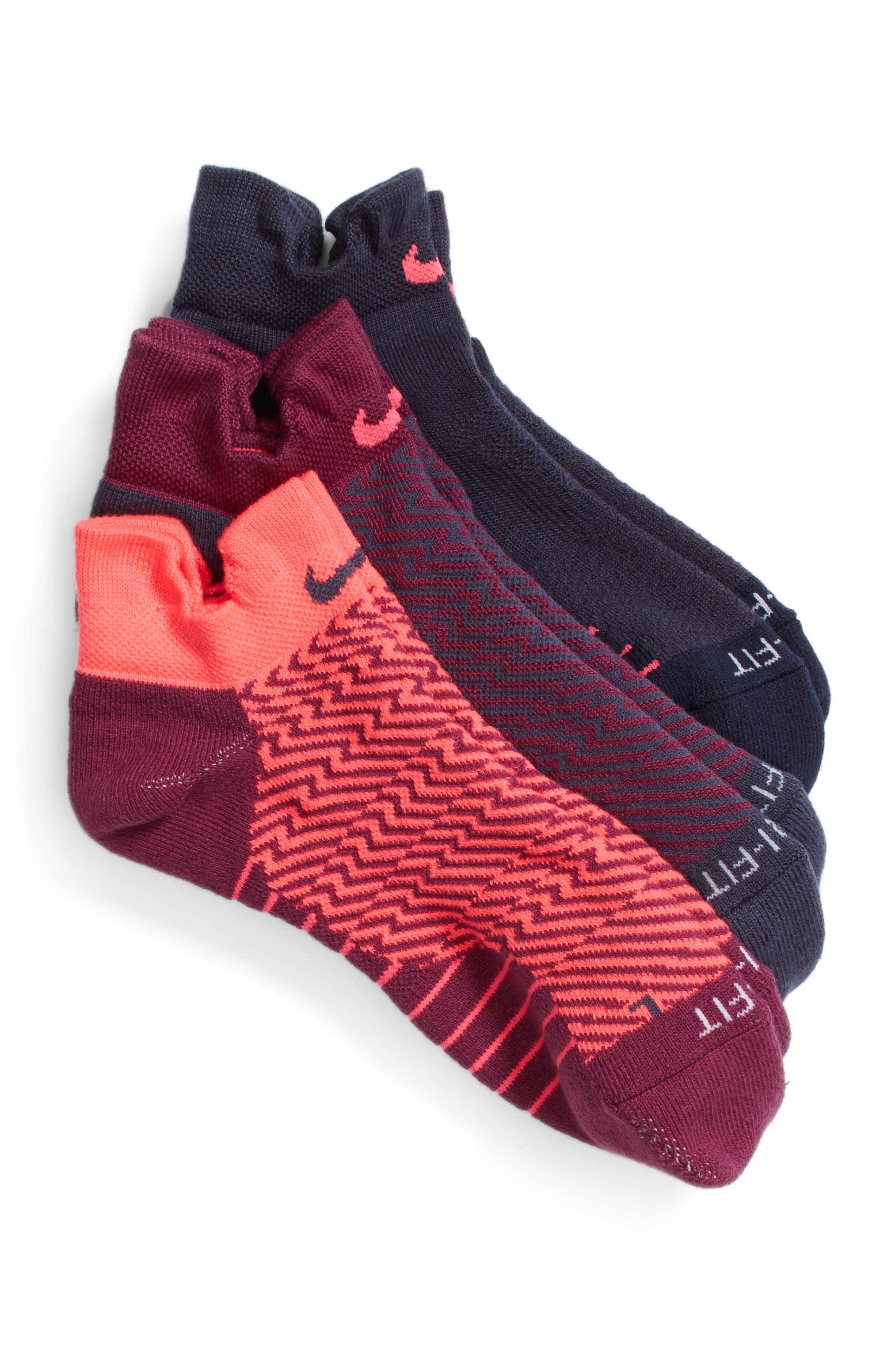 Elite 3-Pack Reflective Running Tab Socks,                             Main thumbnail 4, color,
