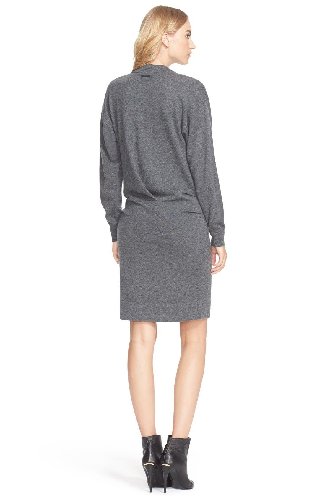 Cashmere & Cotton Sweater Dress,                             Alternate thumbnail 3, color,                             024