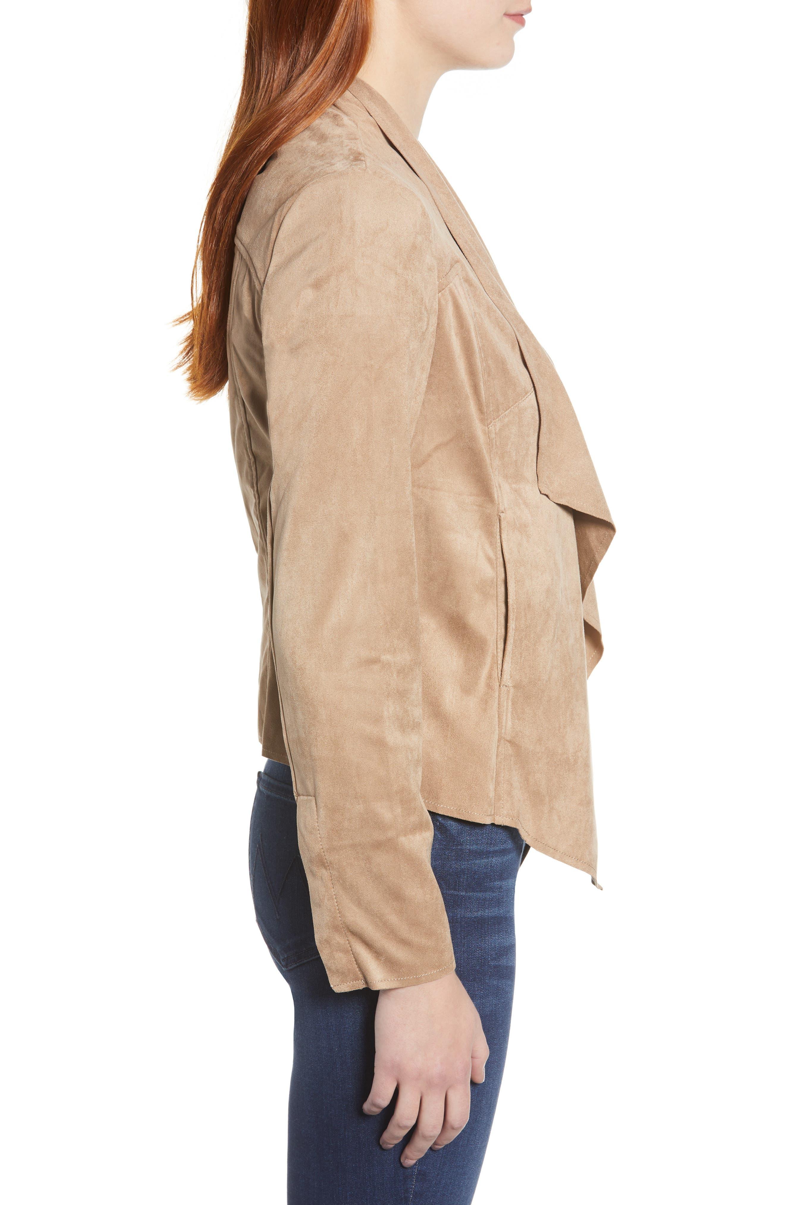 Tayanita Faux Suede Jacket,                             Alternate thumbnail 3, color,                             380